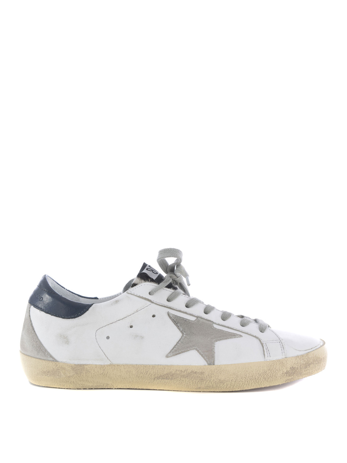 superstar calf hair tongue sneakers by golden goose trainers shop online at. Black Bedroom Furniture Sets. Home Design Ideas