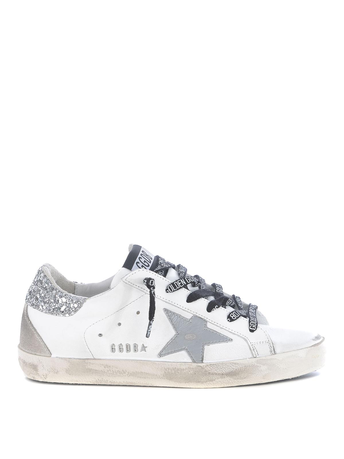 Superstar glitter heel tab sneakers