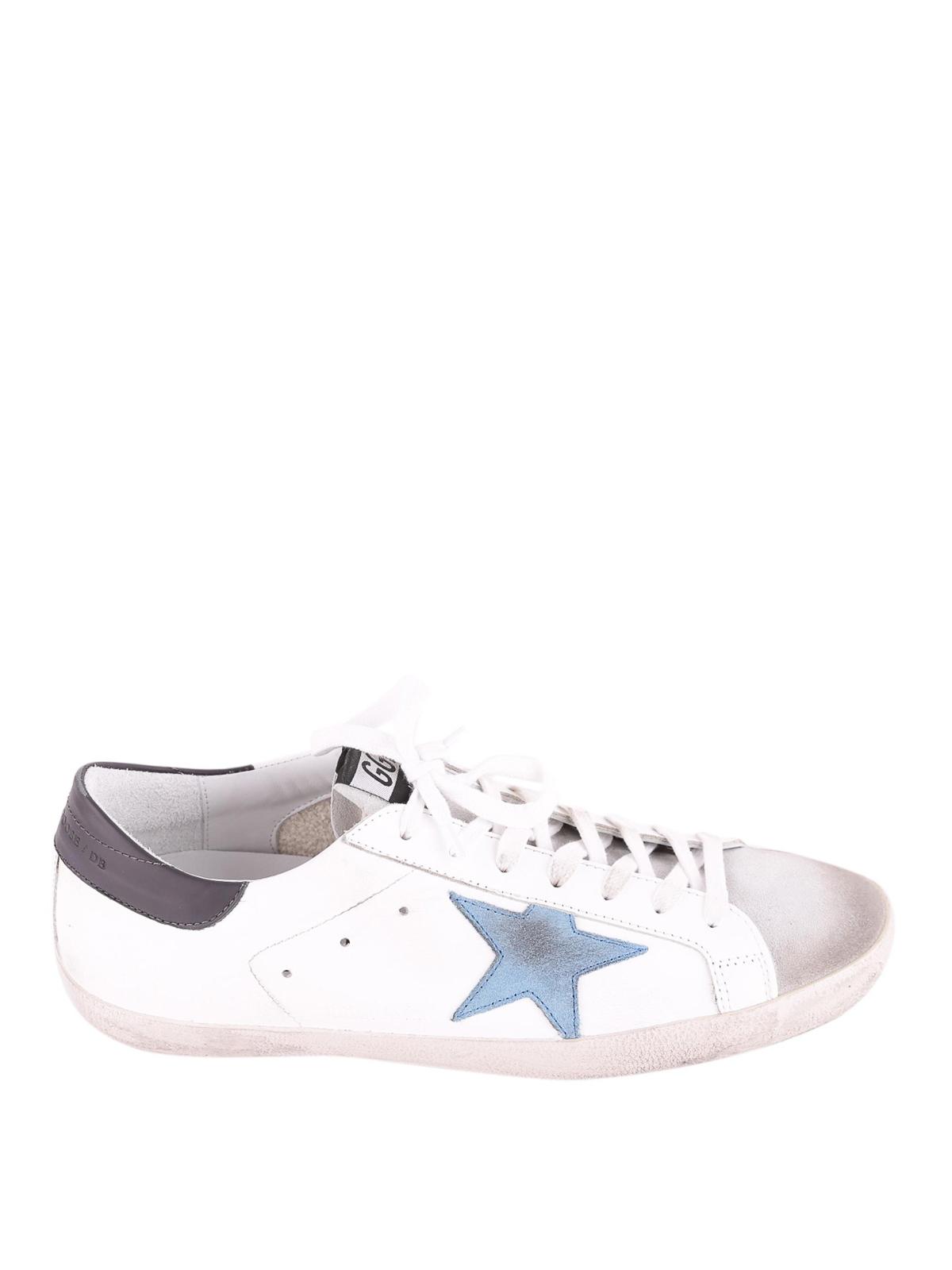 f6794e8336b Golden Goose - Superstar light blue star sneakers - trainers ...