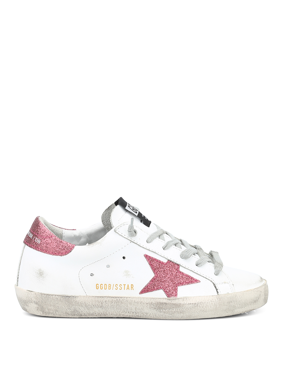 b28da02f1293 Golden Goose - Superstar sneakers with rose glitter star - trainers ...