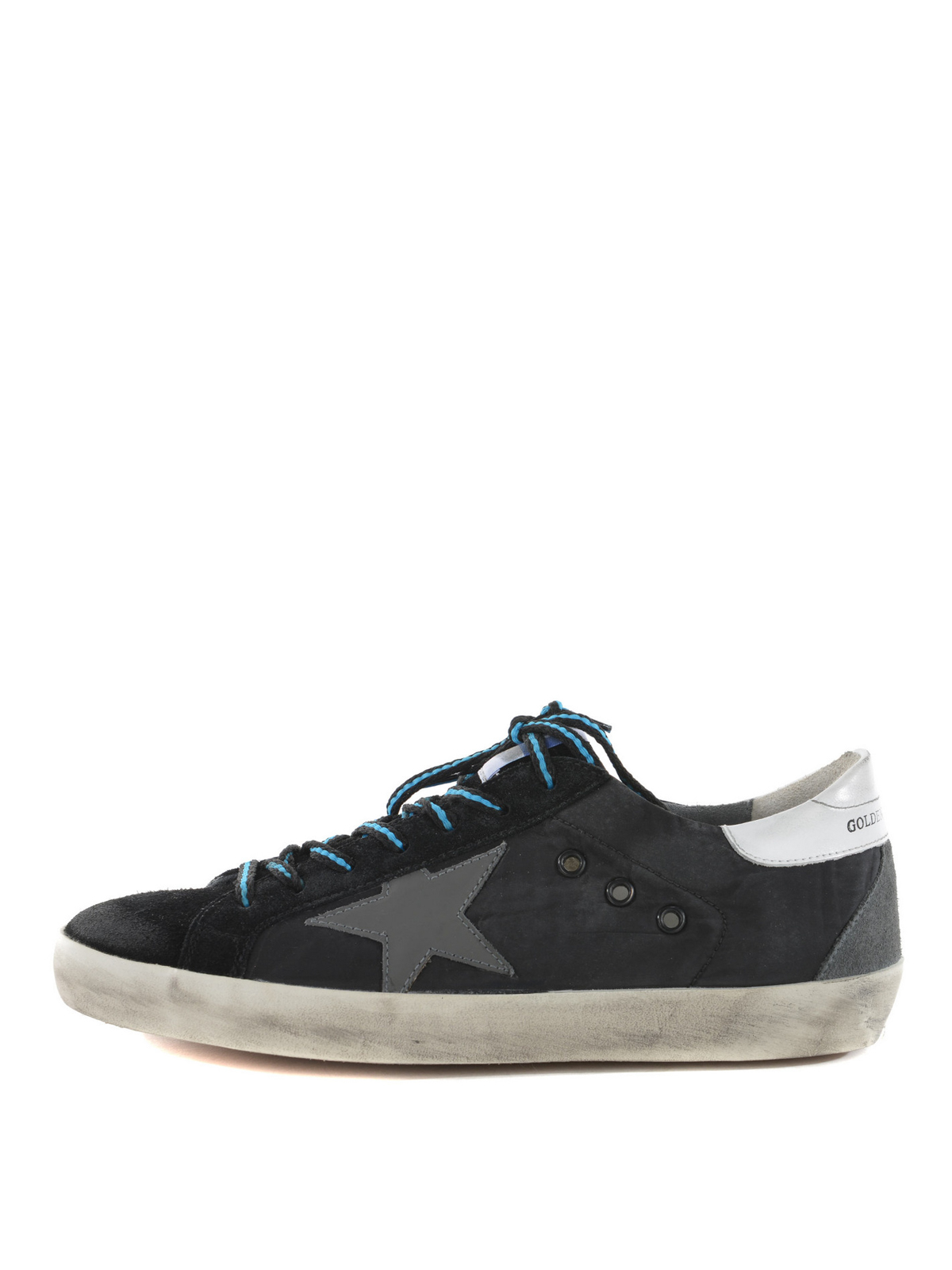 golden goose superstar suede and nylon sneakers trainers g30ms590b44. Black Bedroom Furniture Sets. Home Design Ideas