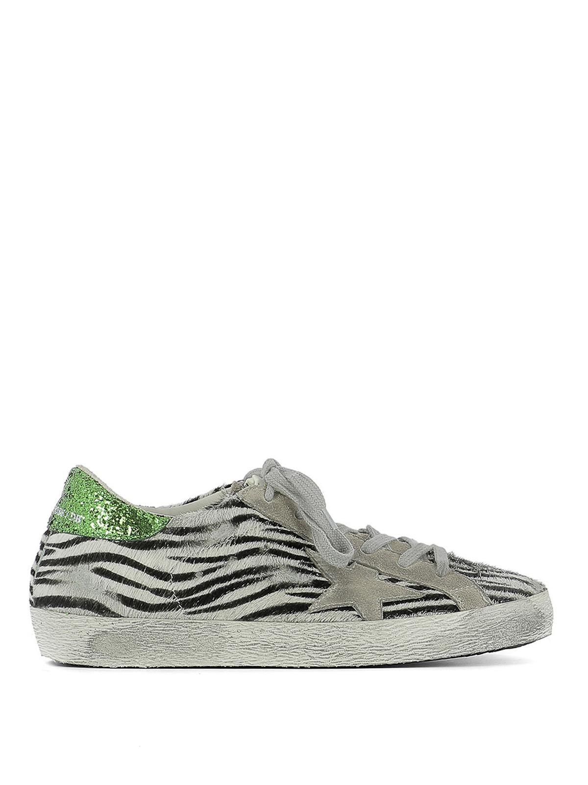 Superstar zebra pony hair sneakers