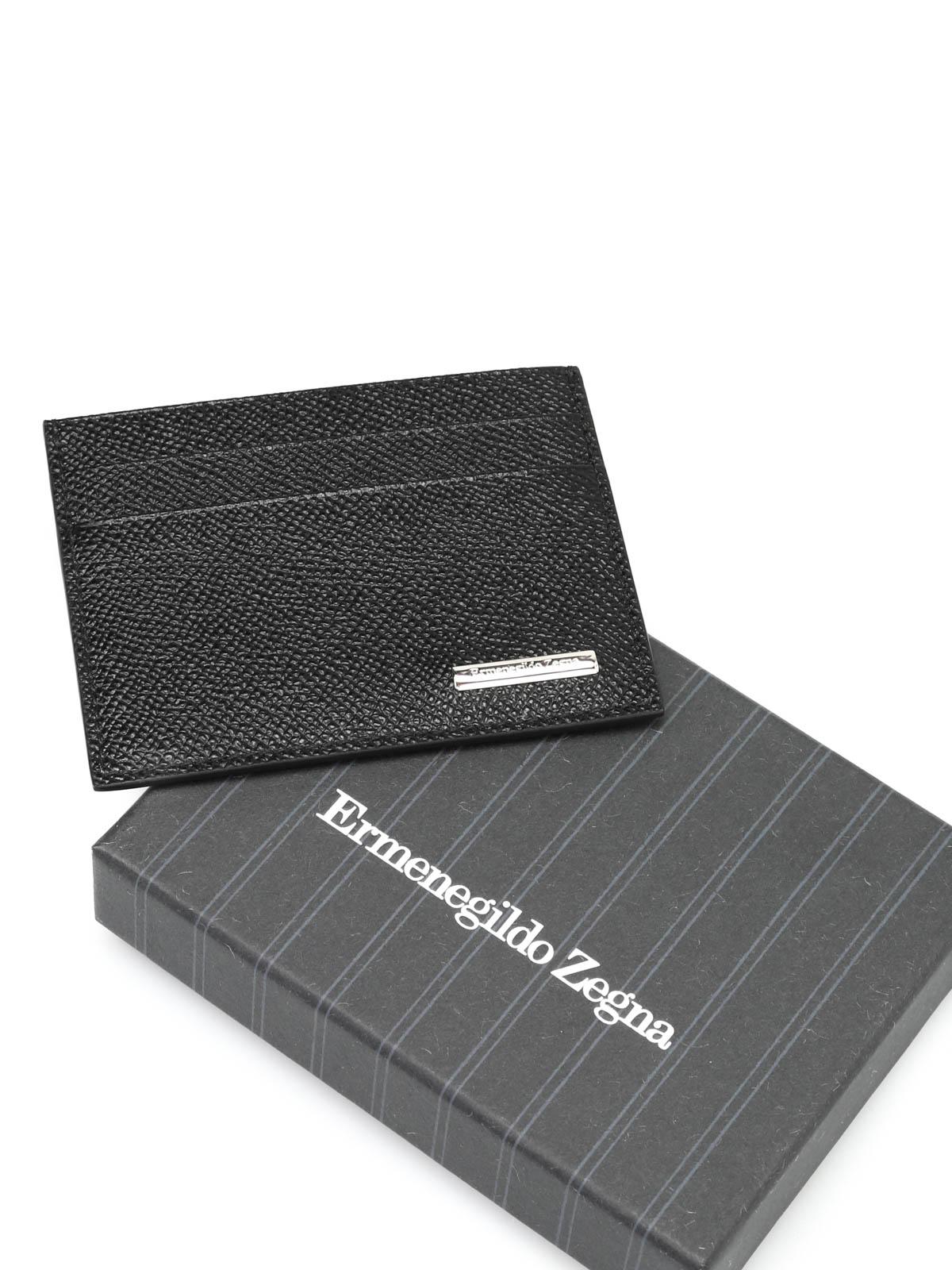 Grained leather card case by ermenegildo zegna wallets purses grained leather card case shop online ermenegildo zegna reheart Images