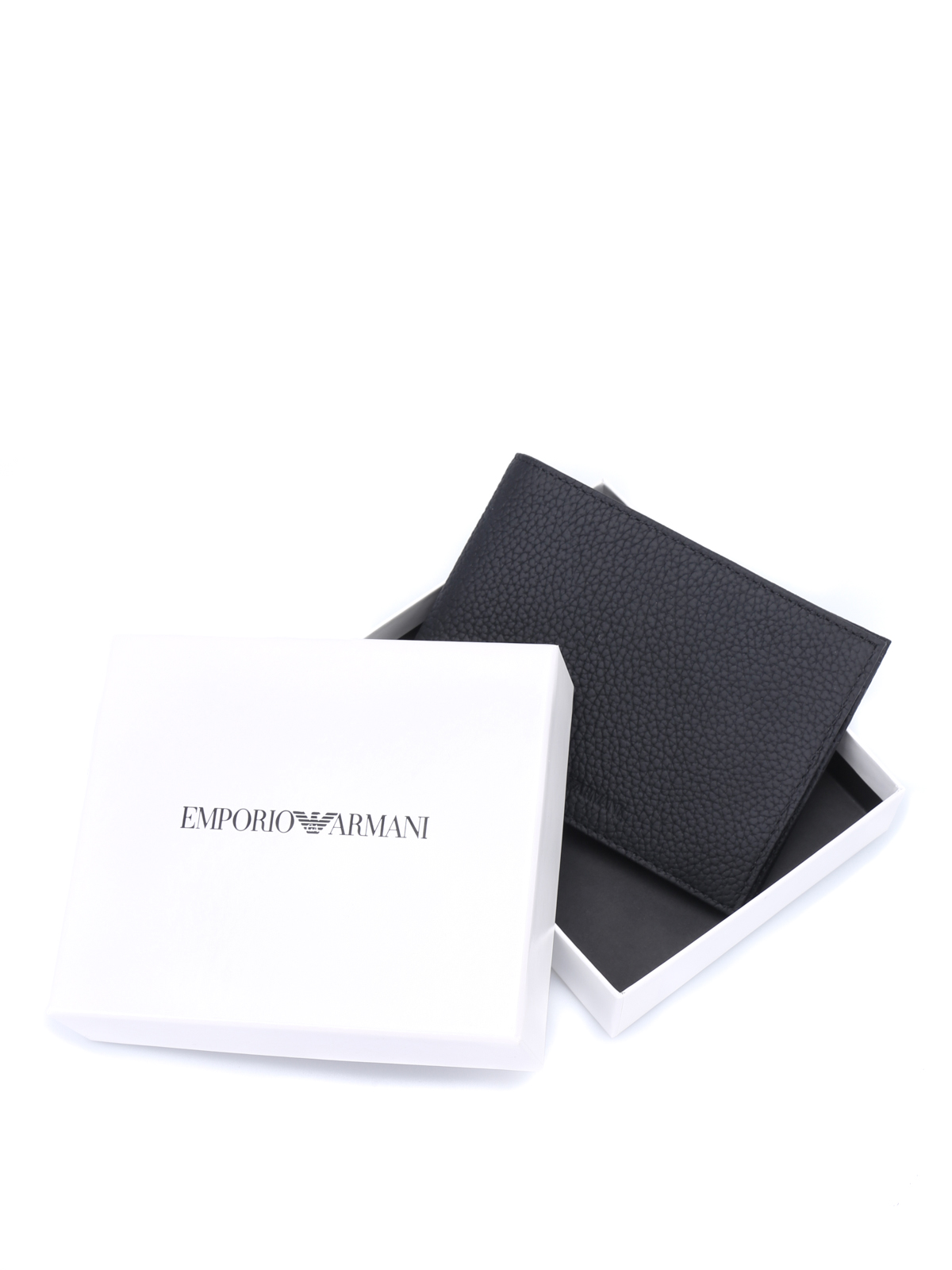 c7d009f282 Emporio Armani - Grainy leather bi-fold wallet - wallets & purses ...
