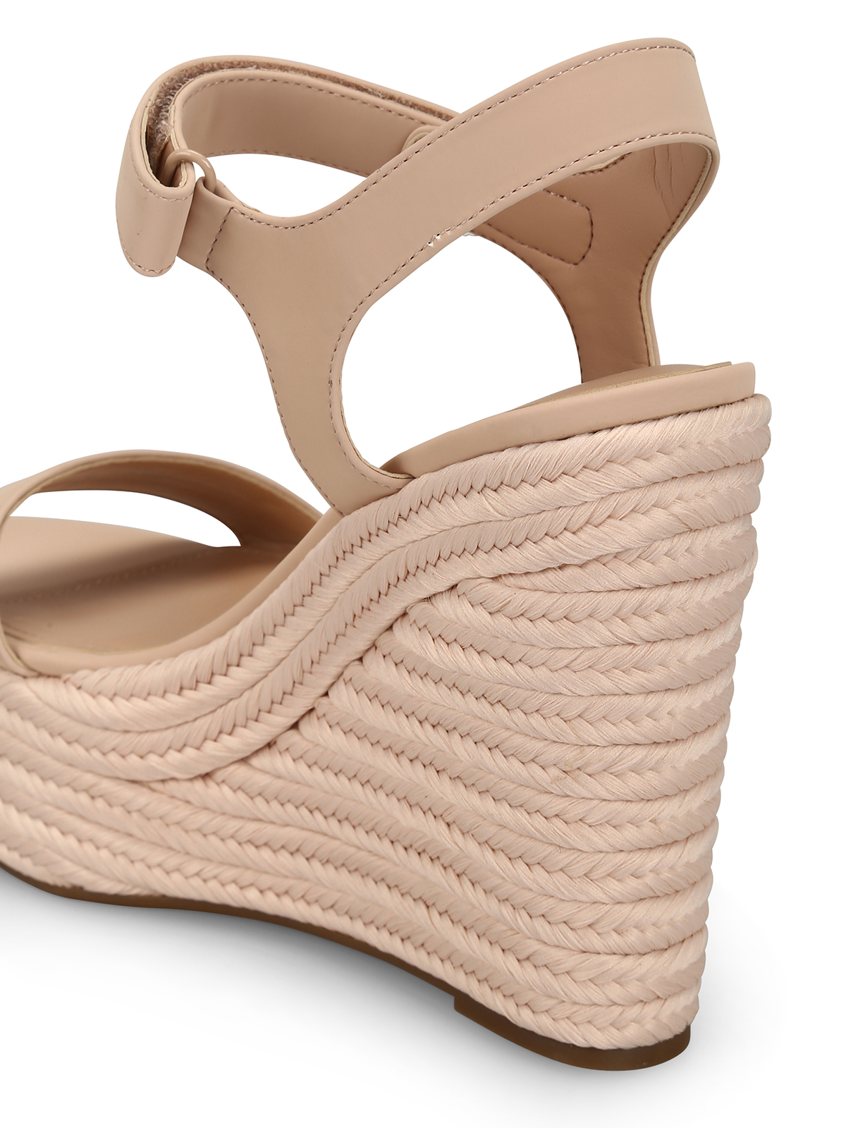 5c71401de0 Kendall + Kylie - Grand pink leather wedge sandals - sandals ...