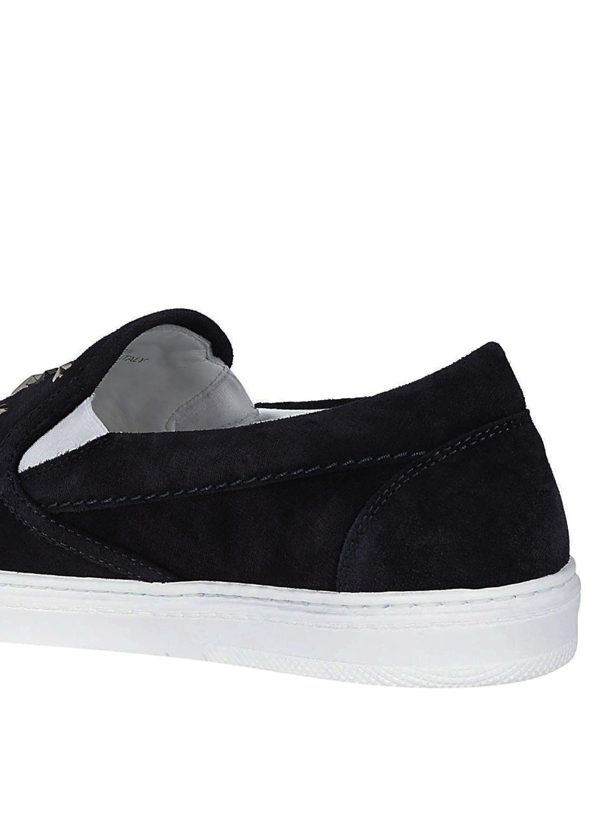 8954a29e8a4 Jimmy Choo - Grove navy suede slip-on sneakers - trainers - GROVE ...