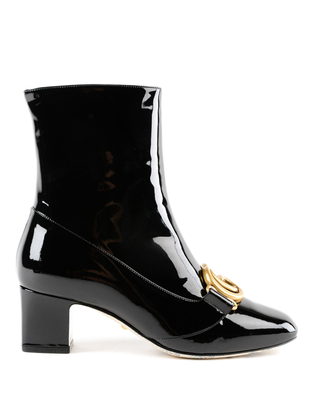 a8d60aa69fa Gucci - Double G patent leather ankle boots - ankle boots ...