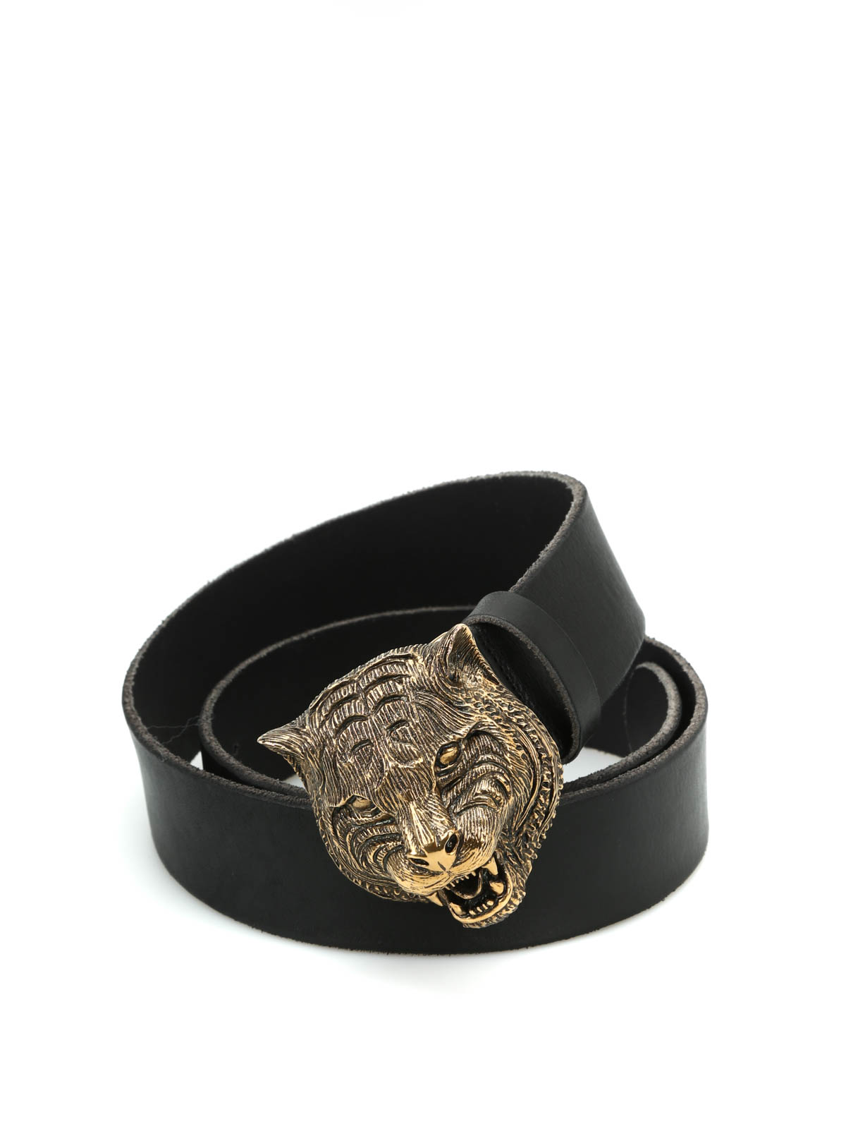 Gucci - Feline buckle leather belt - belts - 409420 CVE0T ...
