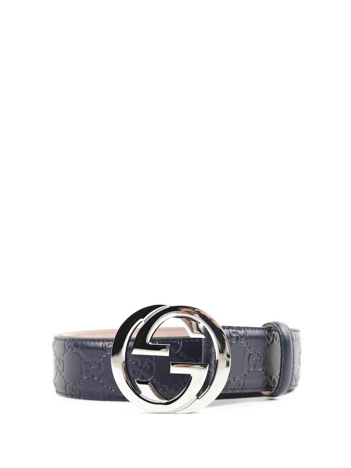 Gucci - Cinturón Azul Para Hombre - Cinturones - 411924 CWC1N 4009 4e8b026e012