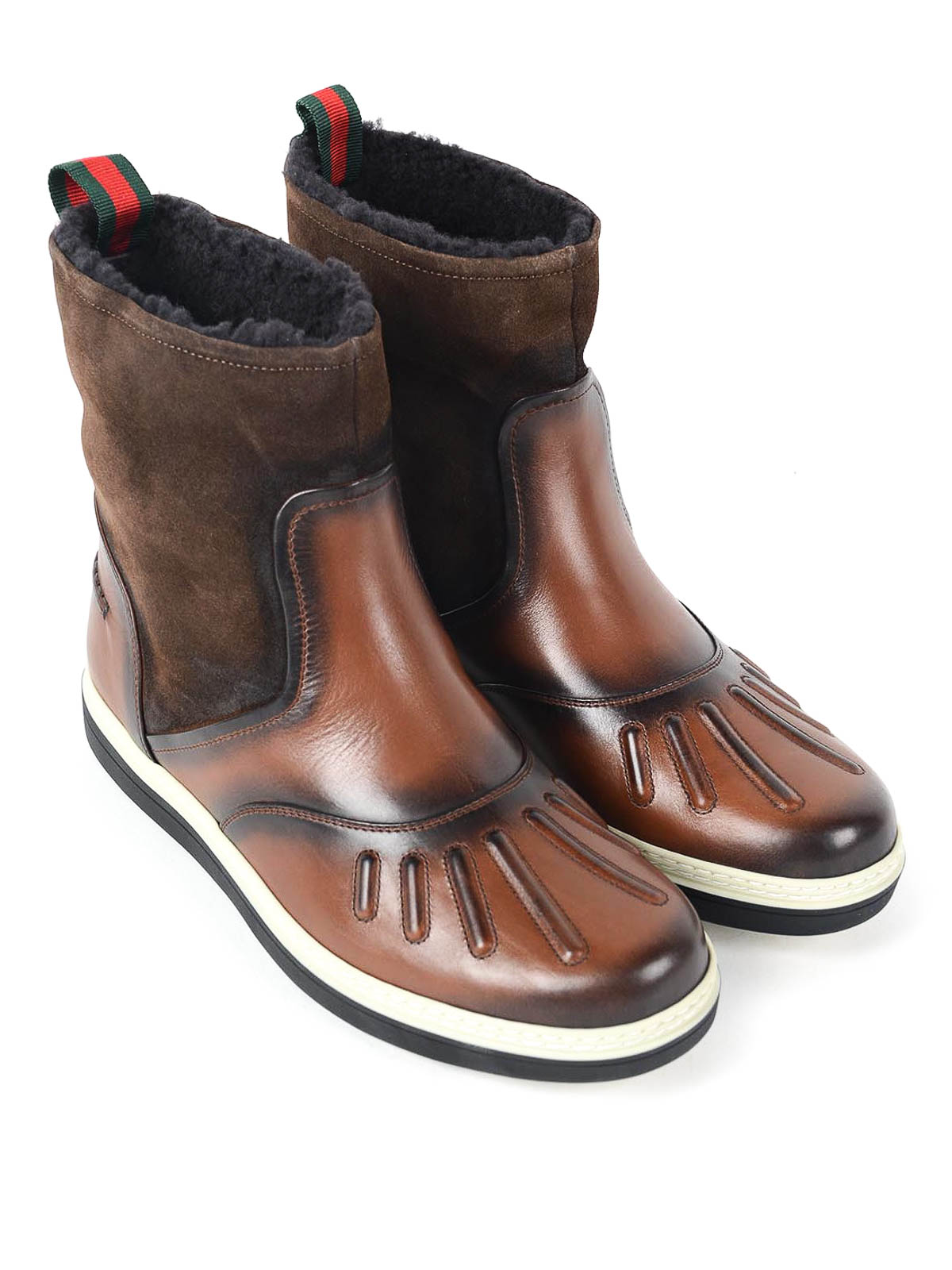 leather and suede boots by gucci boots ikrix