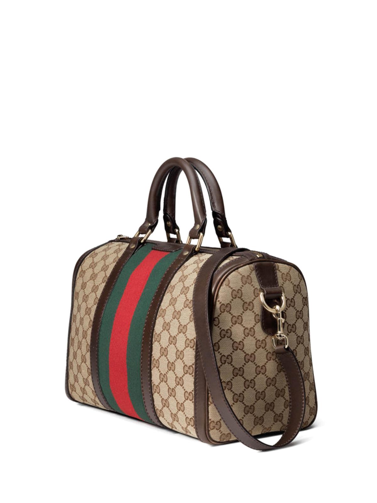 Vintage Web Original GG Boston Bag By Gucci - Bowling Bags | IKRIX