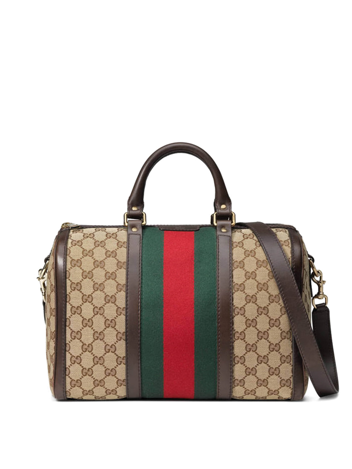 Gucci Bowling Bags Vintage Web Original Gg Boston Bag