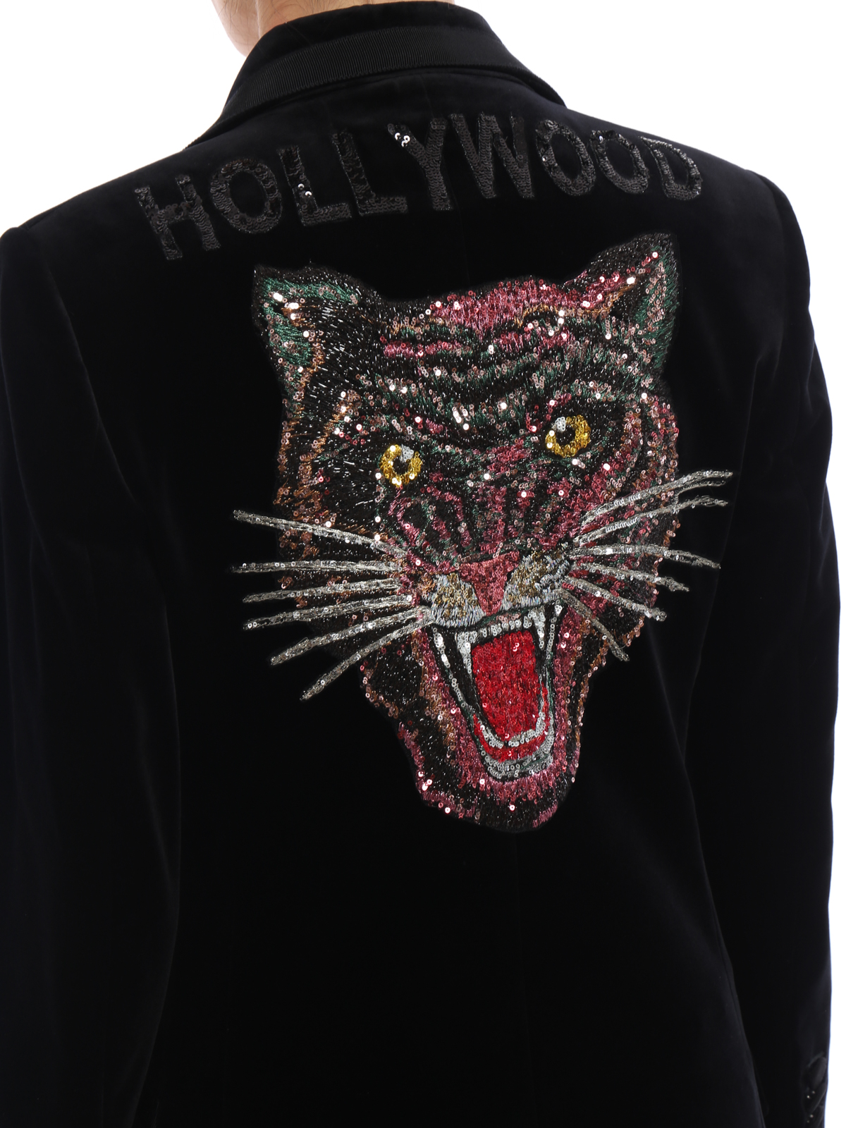b9dc840ba41 Gucci - Angry Cat embroidered velvet jacket - Tailored   Dinner ...
