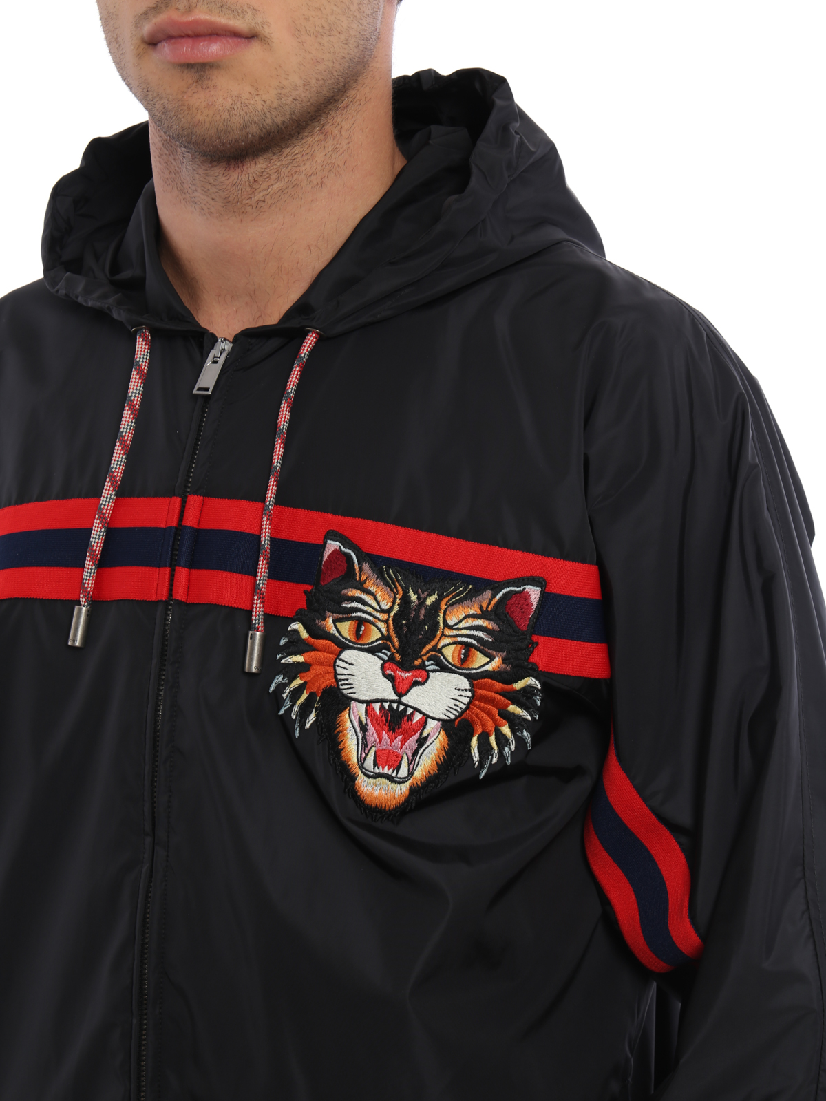 d79e9771e49 Gucci - Angry Cat patch windbreaker - casual jackets - 468227Z706B1082