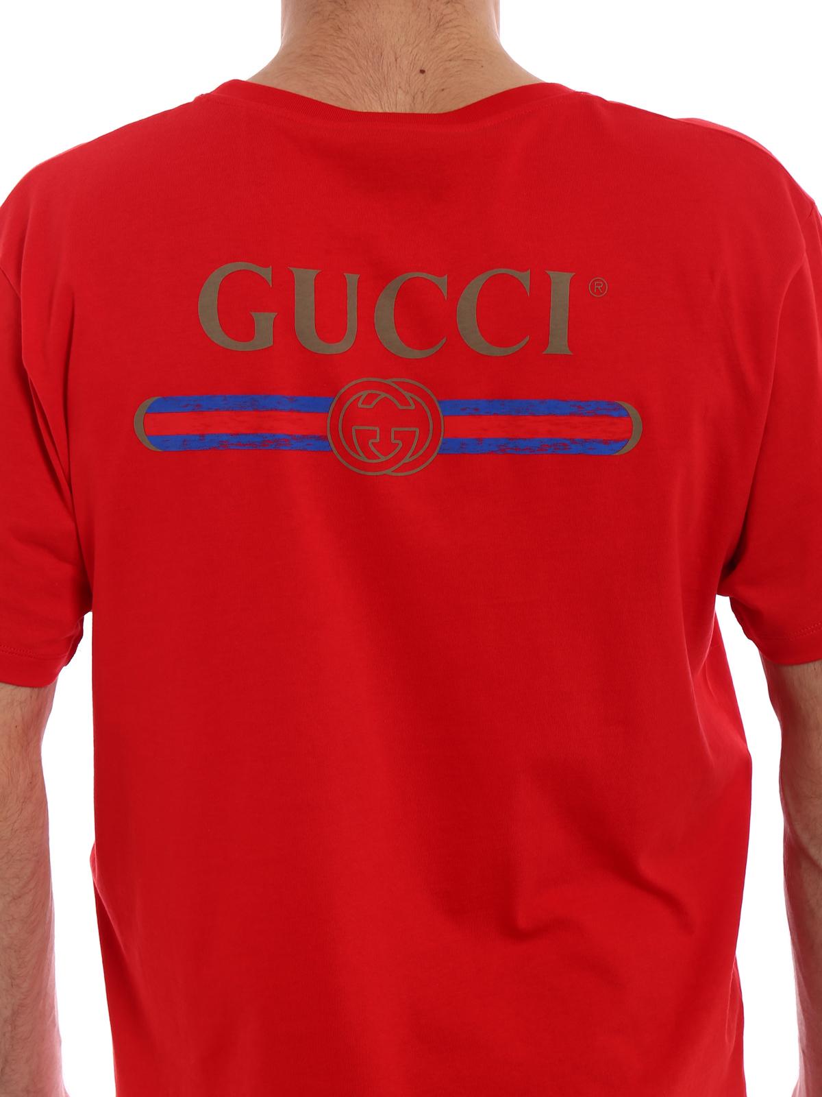 3e4e8b5b64f8b Gucci - Back logo print red Tee - t-shirts - 493117X3I826440