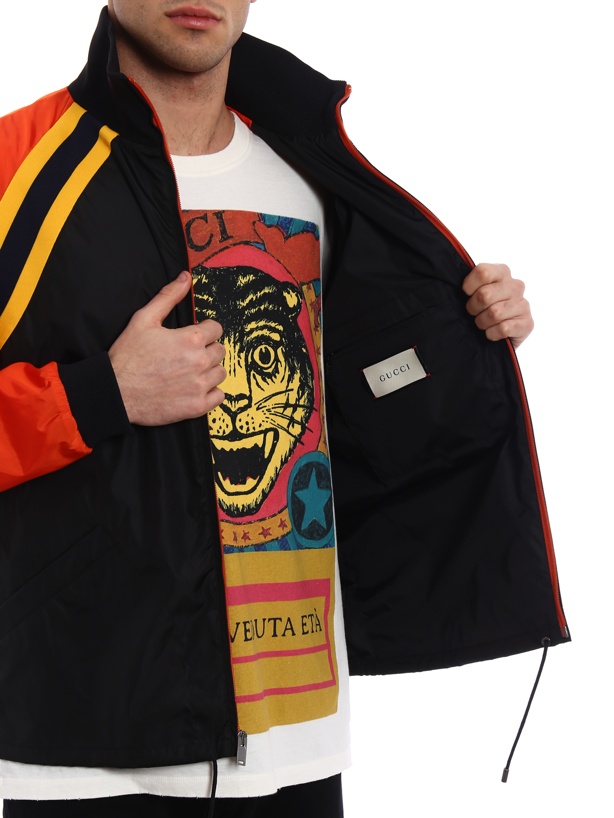b3809f4a8fed Gucci - Black and orange nylon jacket - casual jackets - 500958Z707C1565