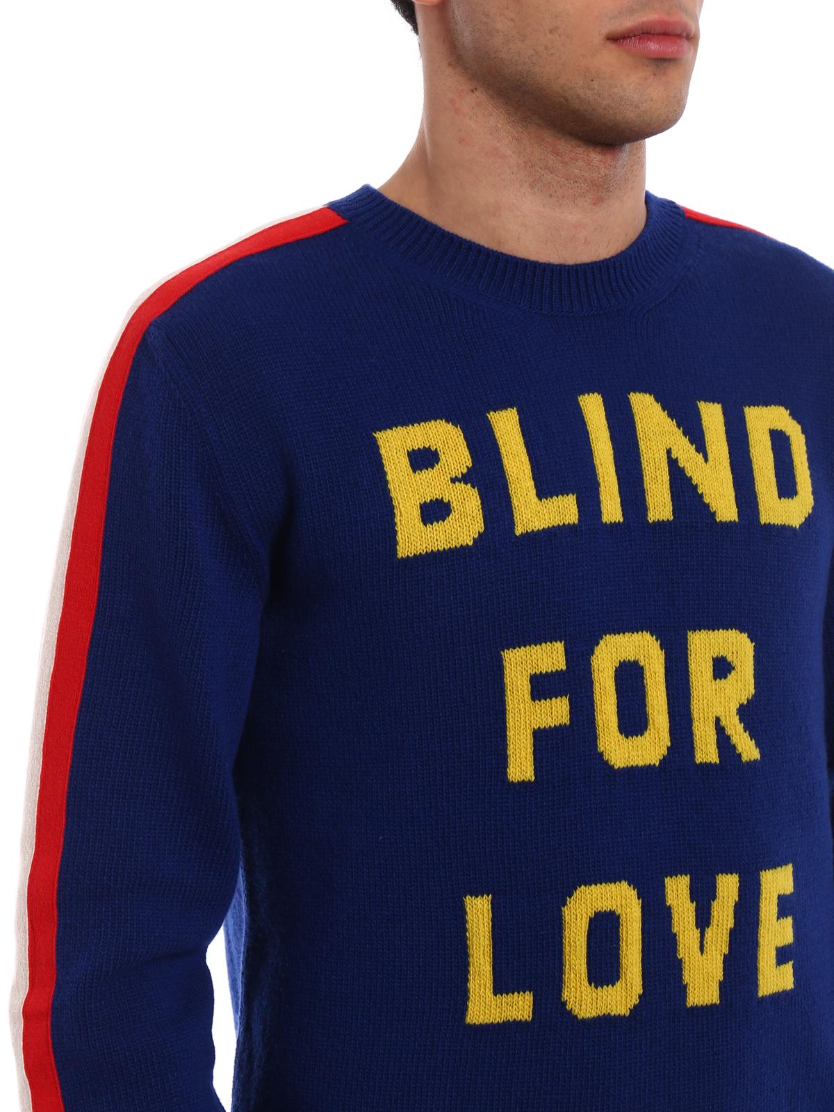 461c90c3f Gucci - Blind For Love intarsia sweater - crew necks - 496686X9I824166