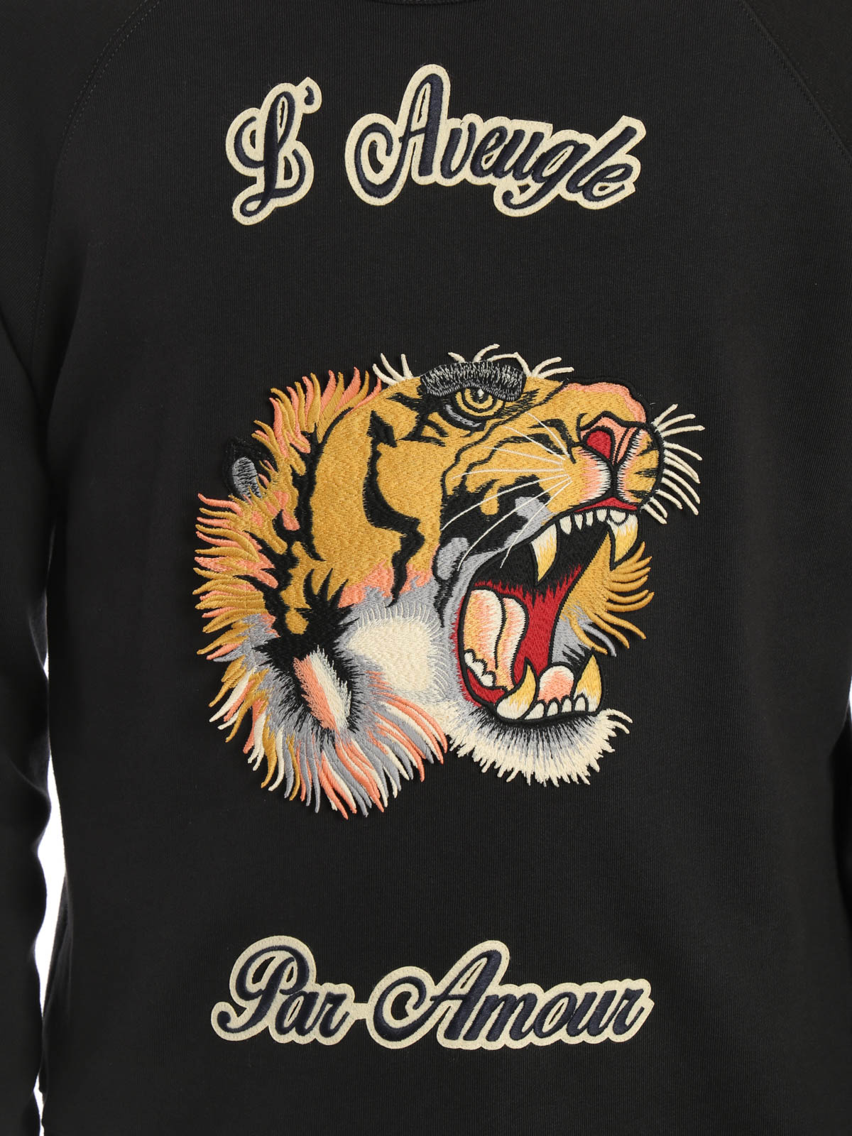 d99866c1cde GUCCI buy online Embroidered tiger patch sweatshirt. GUCCI  Sweatshirts    Sweaters ...