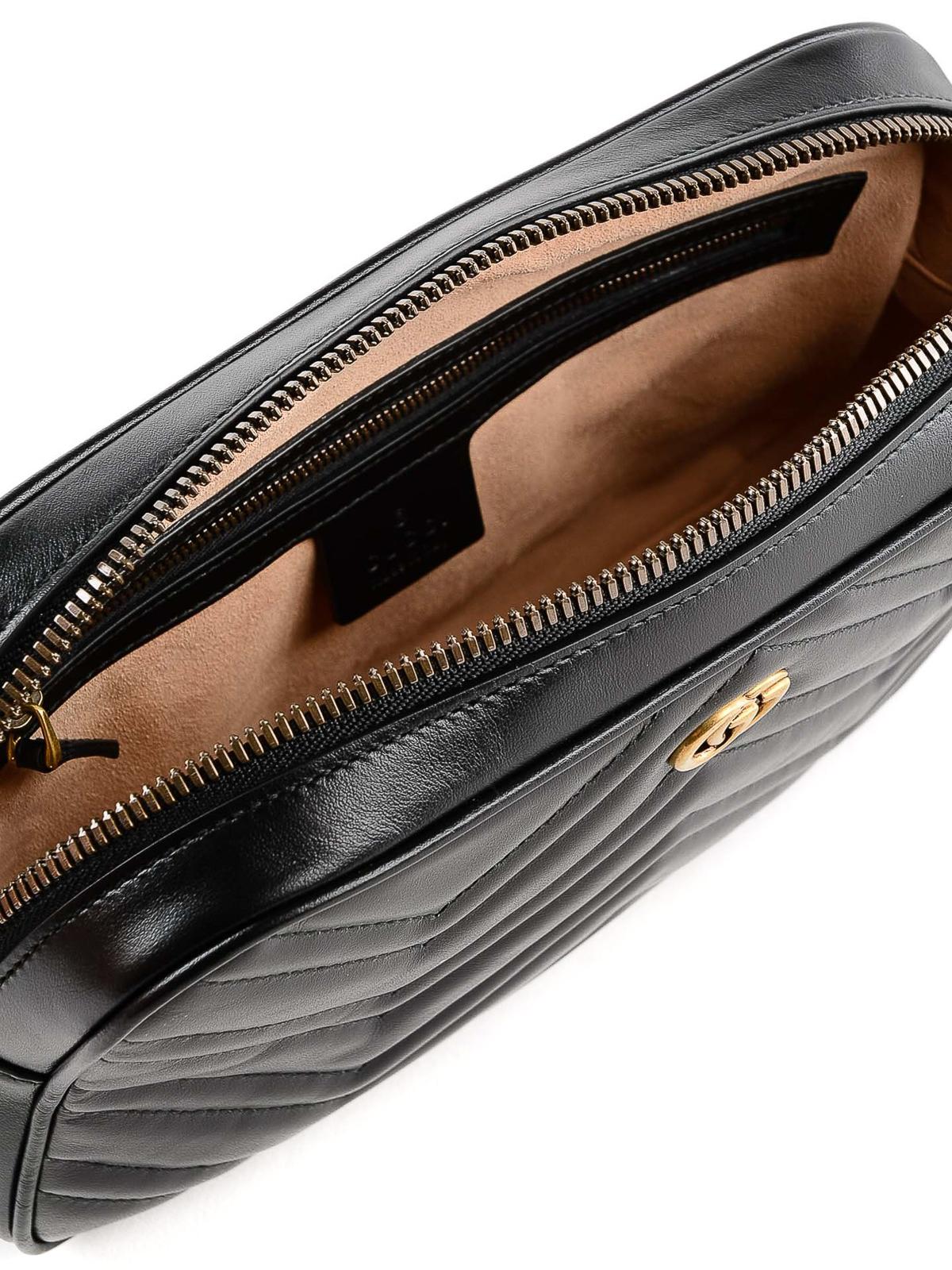 4f40dbedcf9d07 Gucci - GG Marmont black belt bag - belt bags - 523380DTDHT 1000
