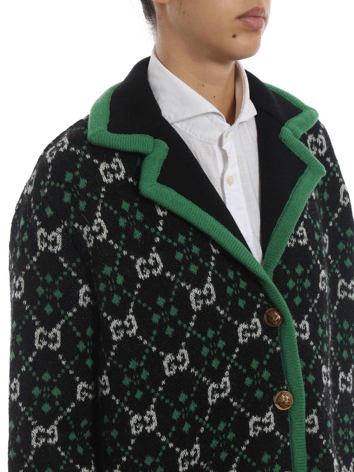 c0233568775 Gucci - GG pattern alpaca and wool over cardigan - cardigans ...