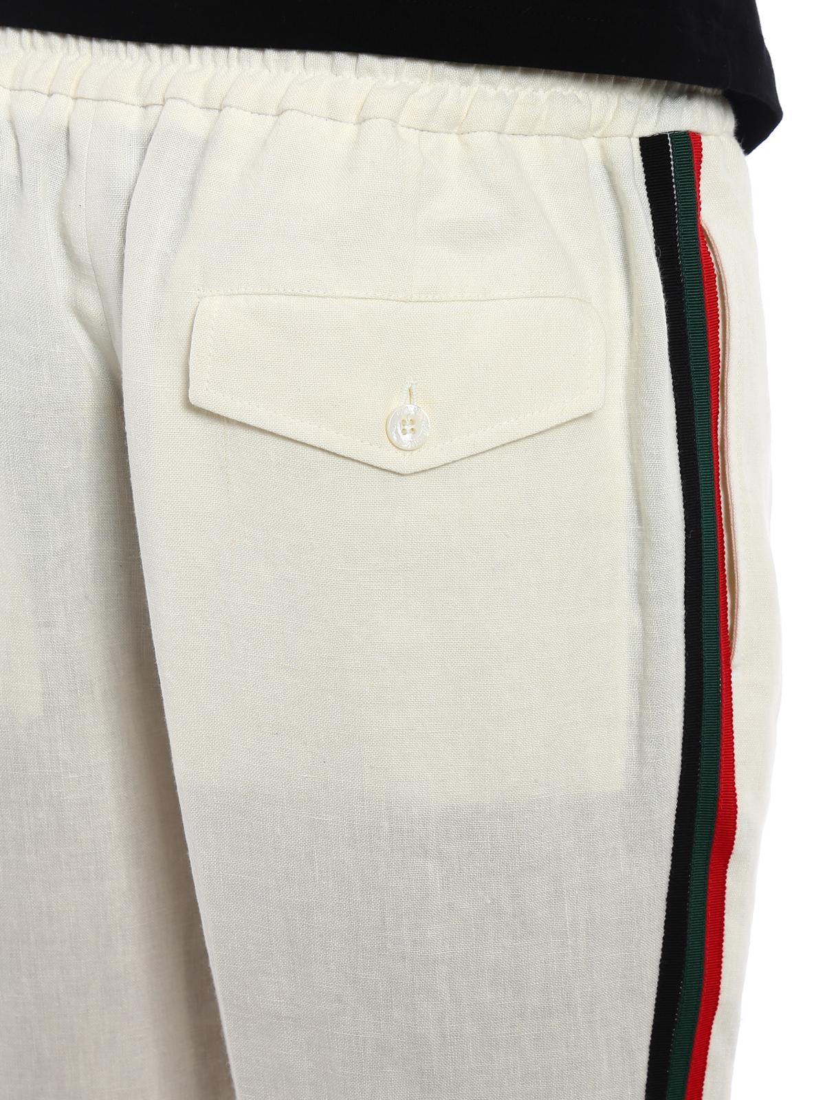 Gucci Pantalon Casual Blanco Pantalones Casual 519574z374g9985