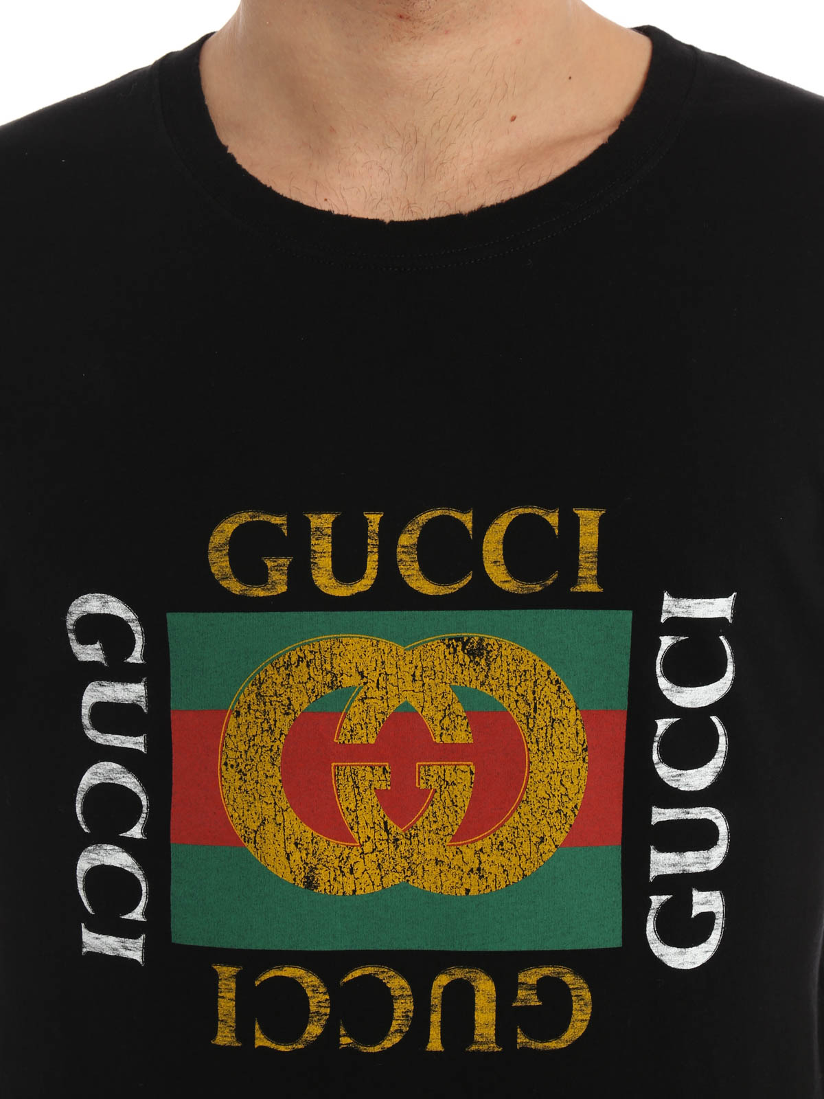 logo print jersey t shirt by gucci t shirts ikrix. Black Bedroom Furniture Sets. Home Design Ideas
