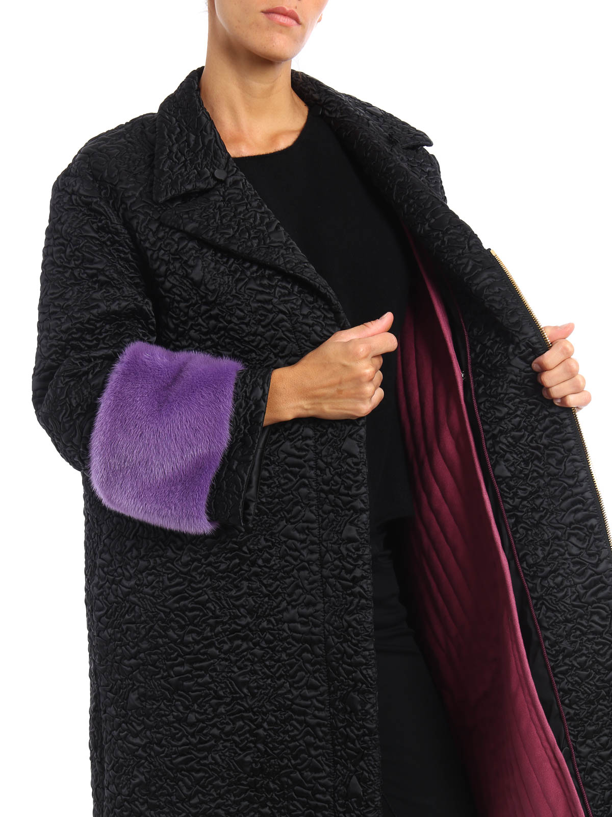 375cd8d58 GUCCI buy online Mink fur detailed nylon coat. GUCCI: Fur & Shearling Coats  ...