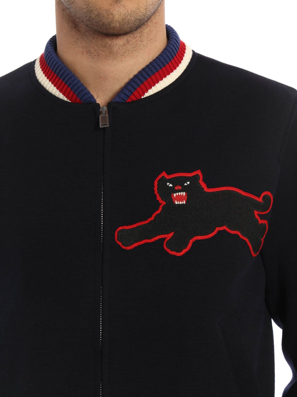 5a82fd99 Gucci - Panther patch detail bomber - bombers - 451123 Z432A 4101