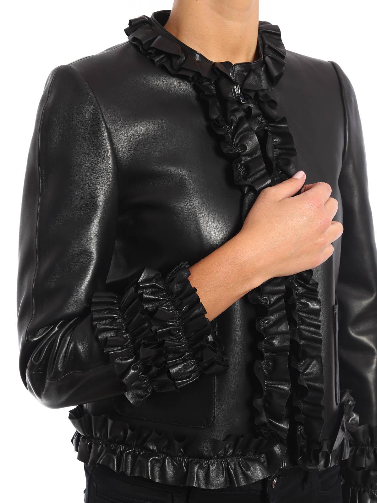 gucci lederjacke fur damen schwarz lederjacken wc0 444631 xn336 1000. Black Bedroom Furniture Sets. Home Design Ideas