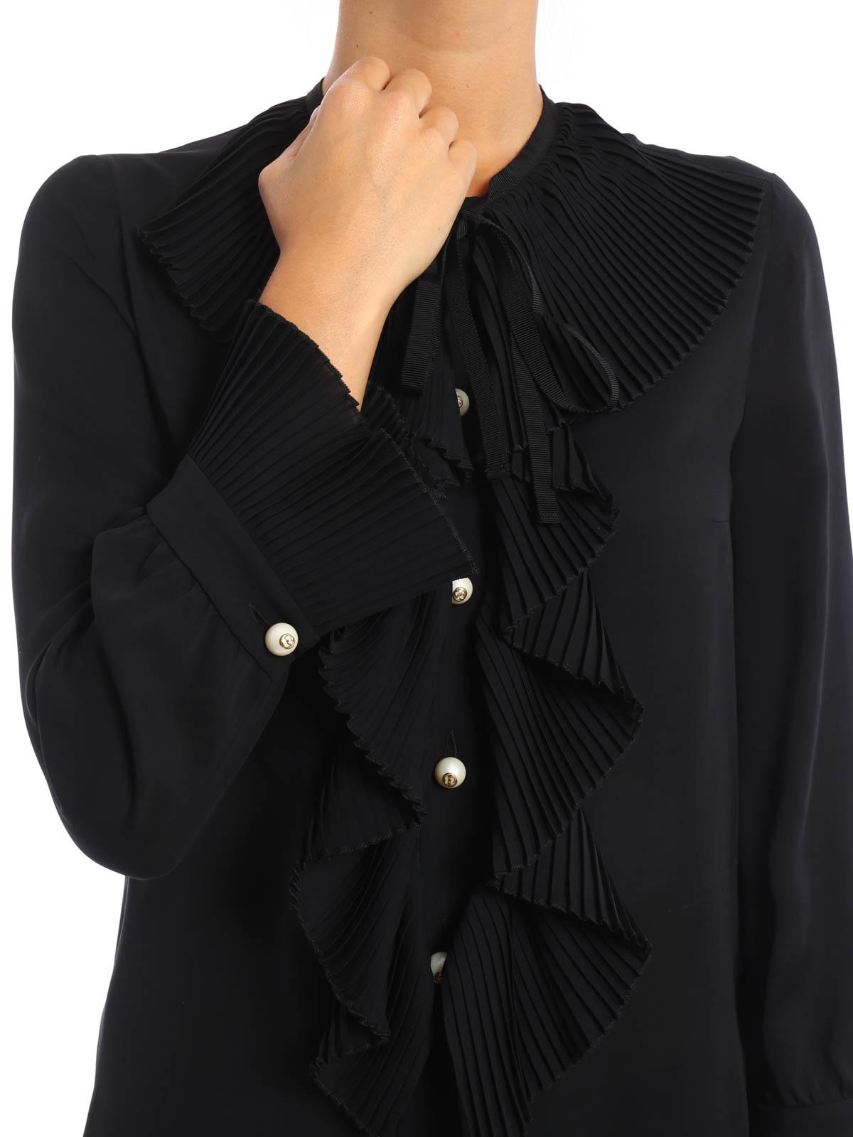 25f2f04d81491 Gucci - Ruffled silk shirt - shirts - 432949 ZHS18 1000