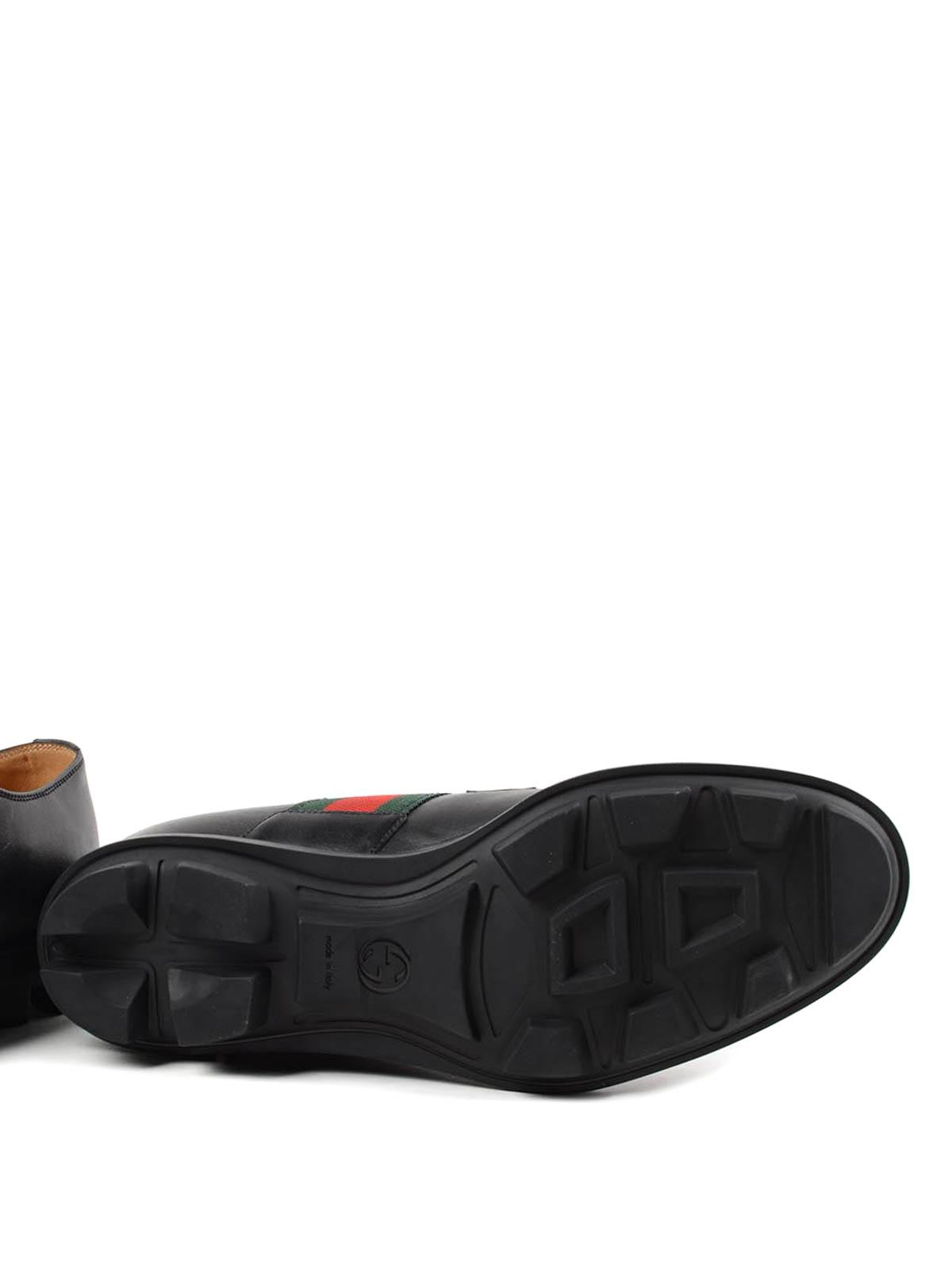 e1137bc11 Gucci - Zapatos Con Cordones Negros - Zapatos con cordones ...