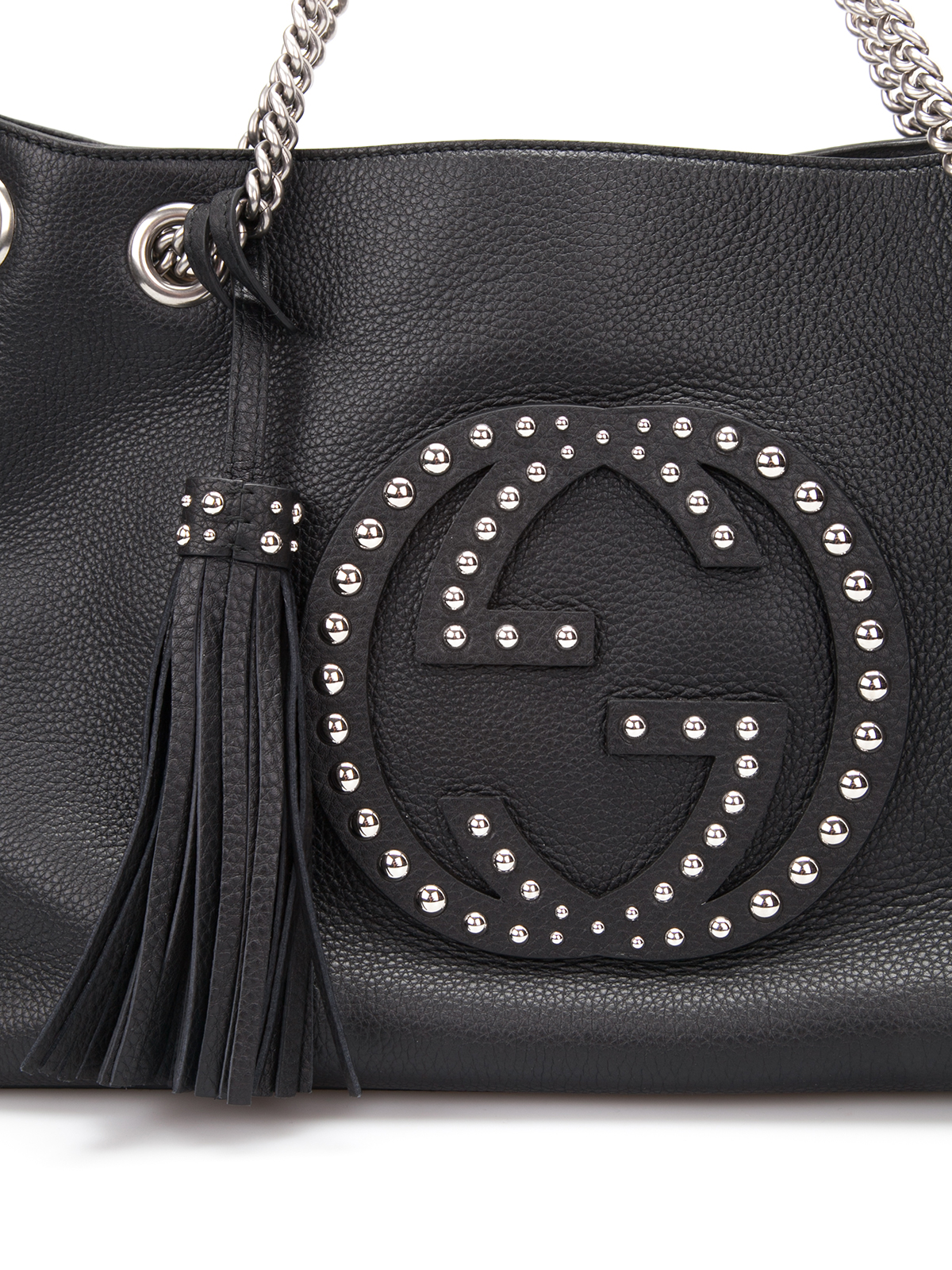 Gucci Soho Studded Leather Shoulder Bag Totes Bags