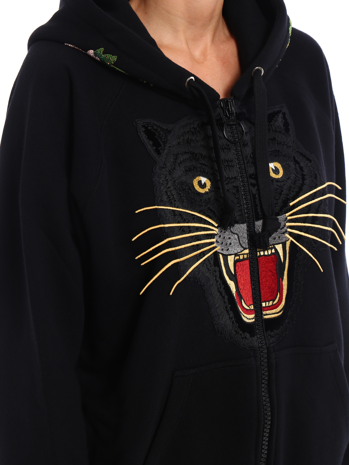 d13e7347375 GUCCI buy online Tiger patch over hoodie · GUCCI  Sweatshirts   Sweaters ...