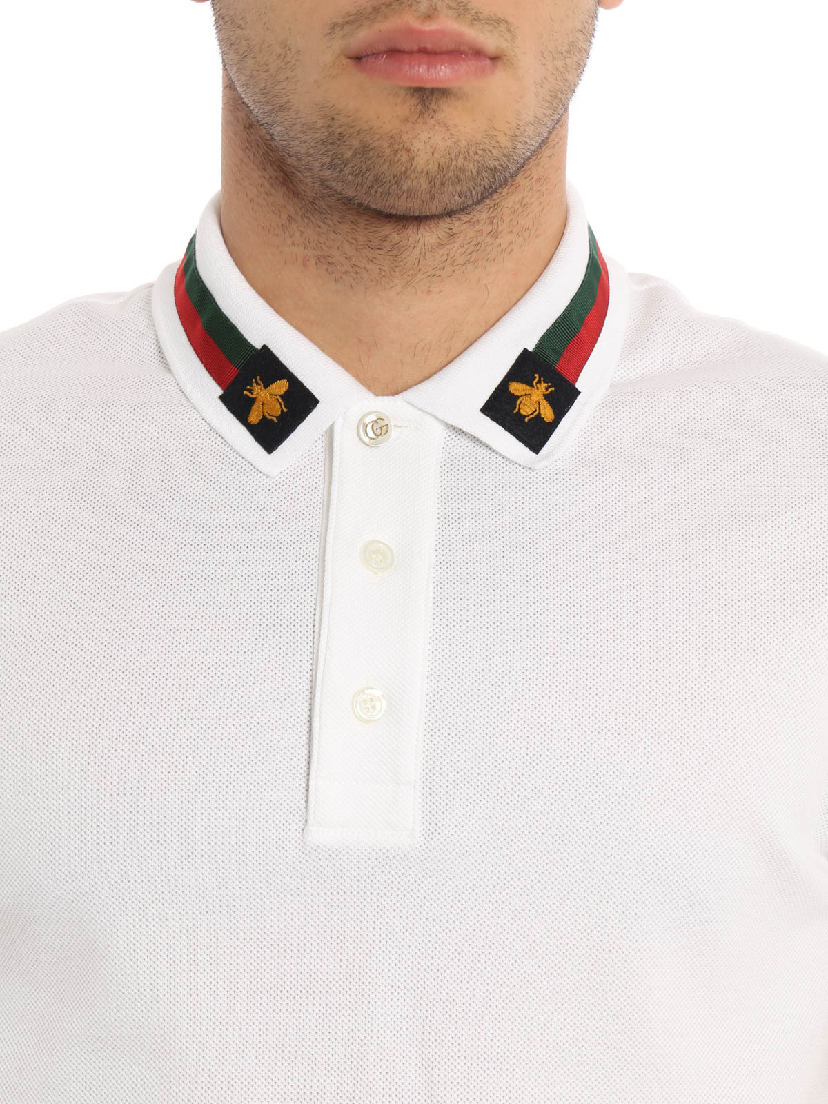 gucci polo. gucci buy online web detail and bees polo shirt