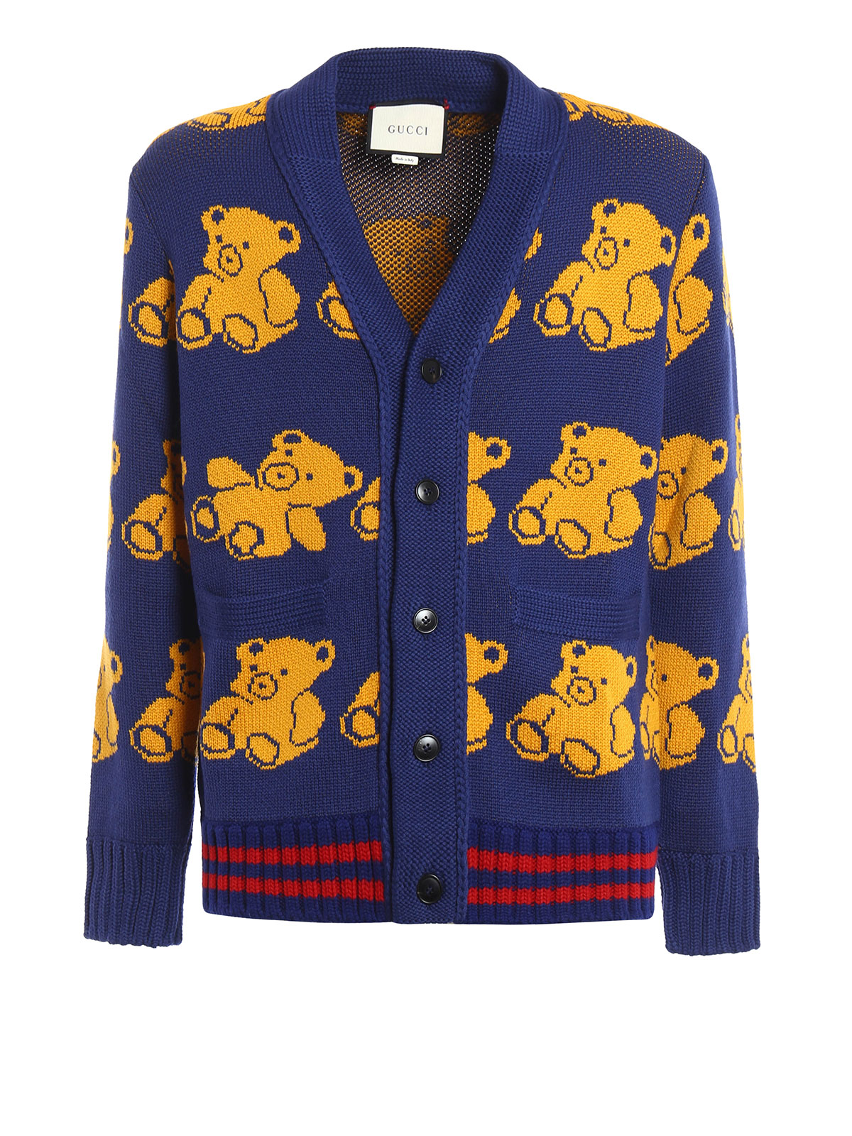 3be2e5d02 Gucci - Teddy bear jacquard wool cardigan - cardigans - 442638 X1357 ...