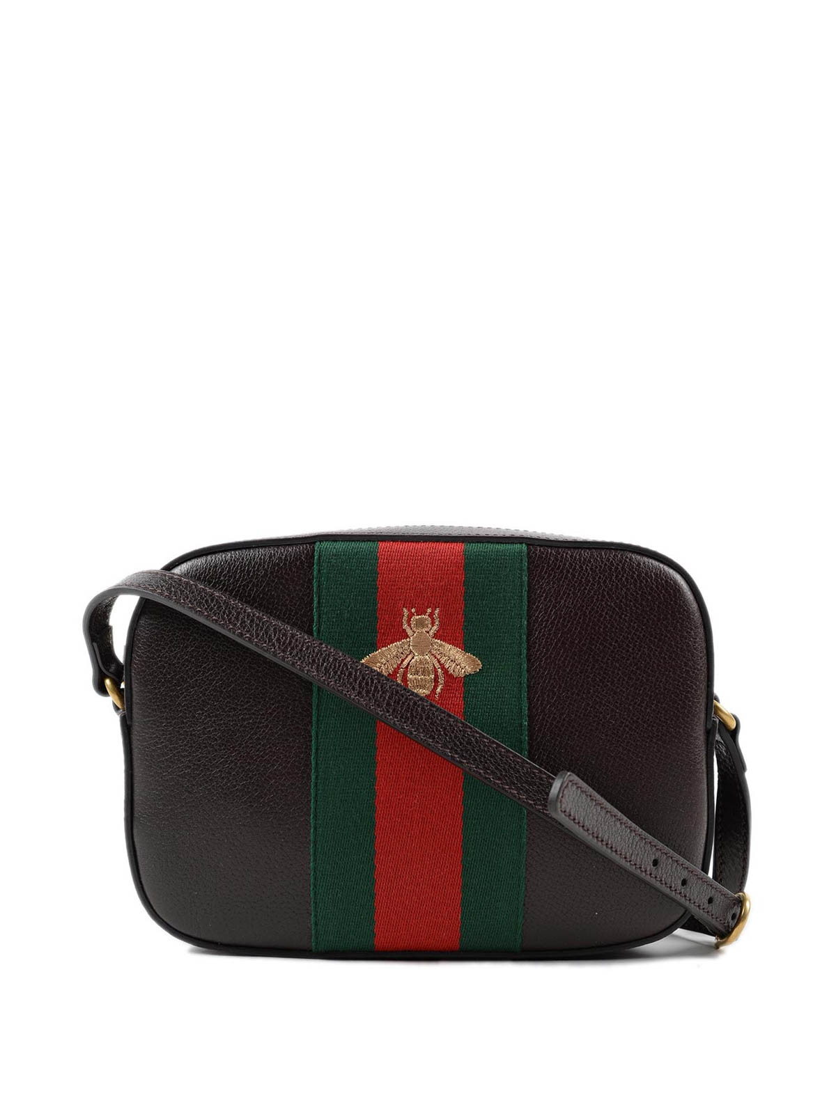 Bee embroidery leather mini bag by Gucci