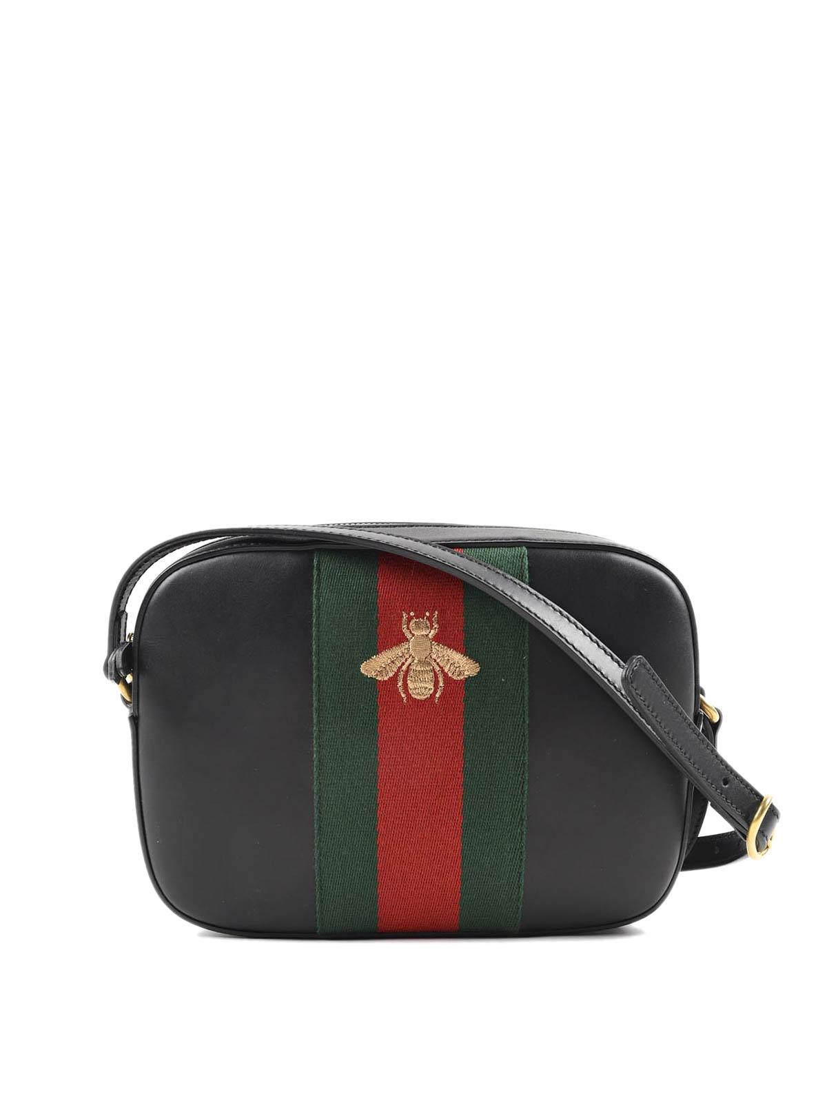 Gucci - Bolsa Bandolera Negra Para Mujer - Bolsas bandoleras ... 5933842b529