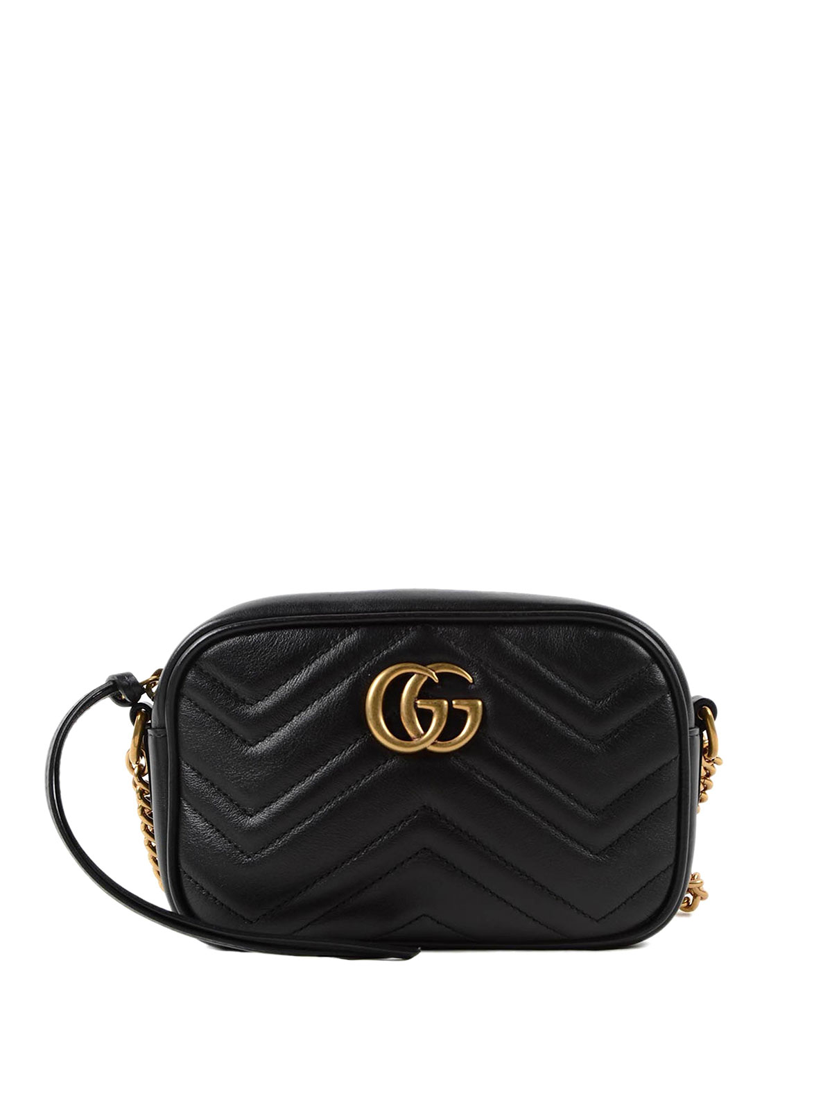 7cdb363e8edc2c Gucci - GG Marmont matelassé chain mini bag - cross body bags ...