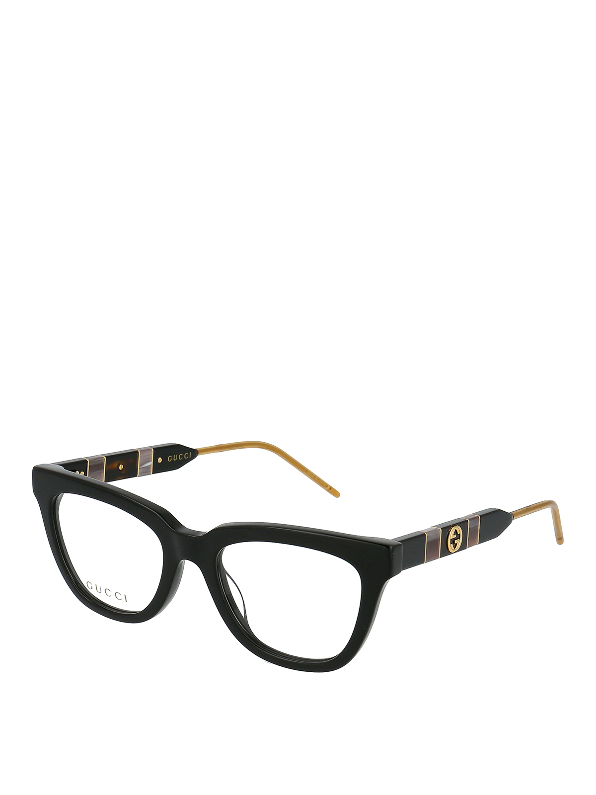 Gucci Gg Logo Black Optical Glasses