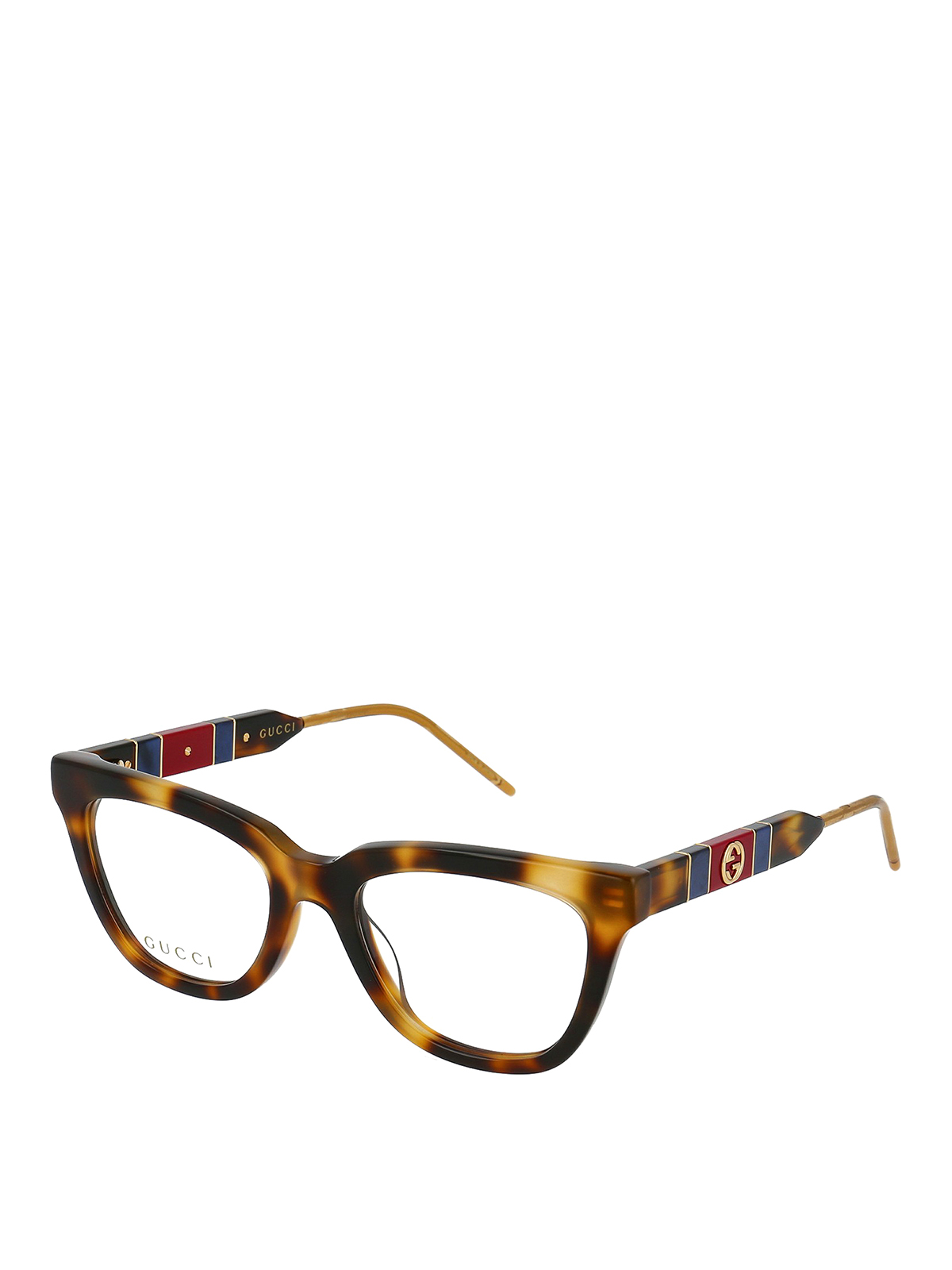 Gucci Gg Logo Havana Optical Glasses In Brown