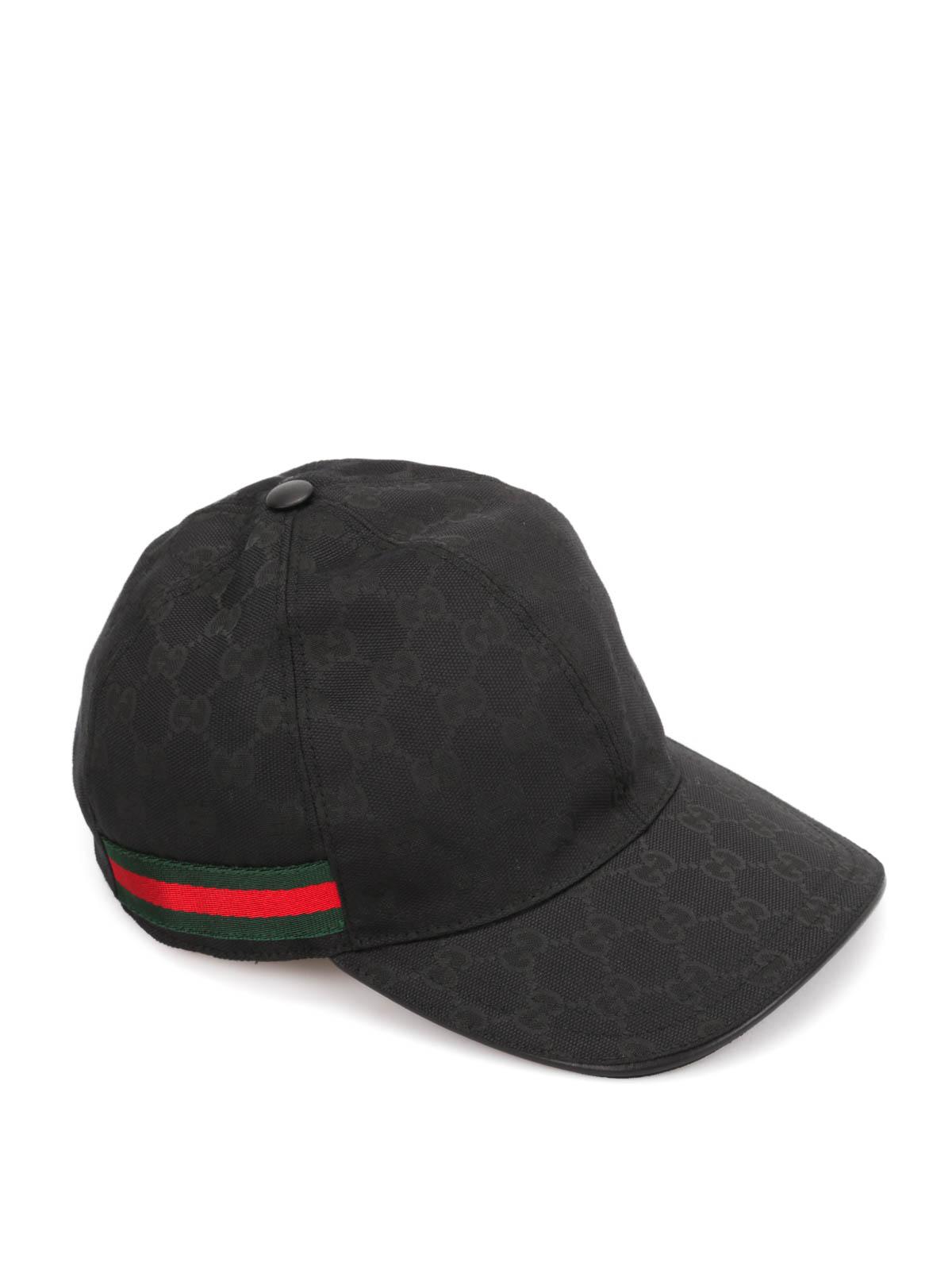 Loop And Hook >> Gucci - GG canvas baseball hat - hats & caps - 200035 FFKPG 1060
