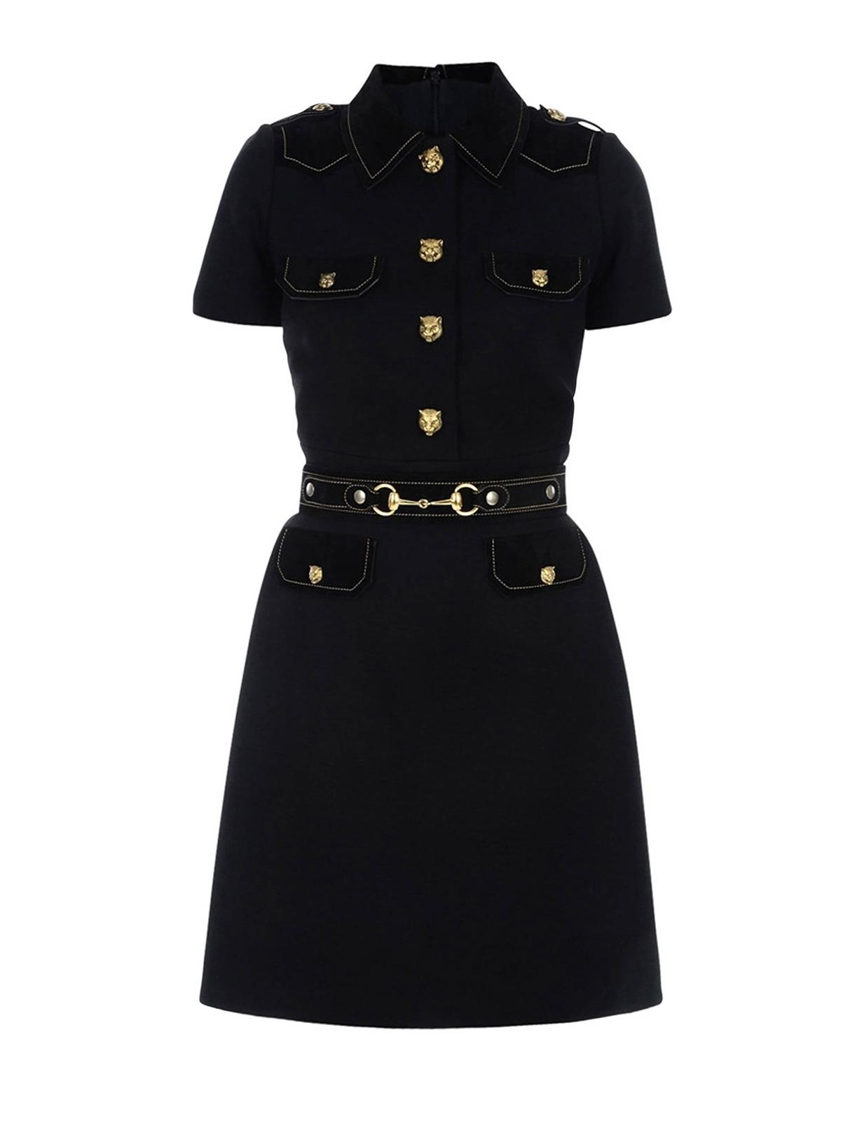 f8def11a9 Gucci - Tiger details chemisier dress - knee length dresses ...