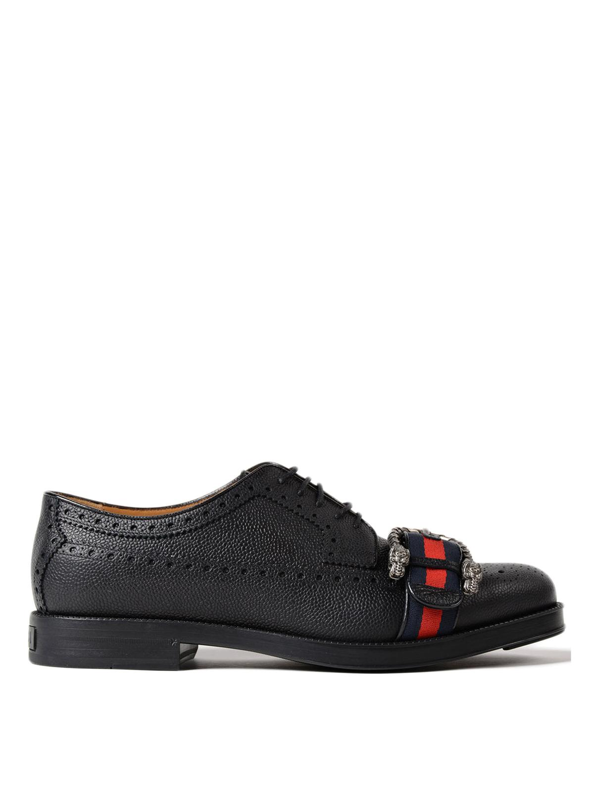 Gucci - Zapatos Con Cordones - Negro - Zapatos con cordones ... e7445fd34e6