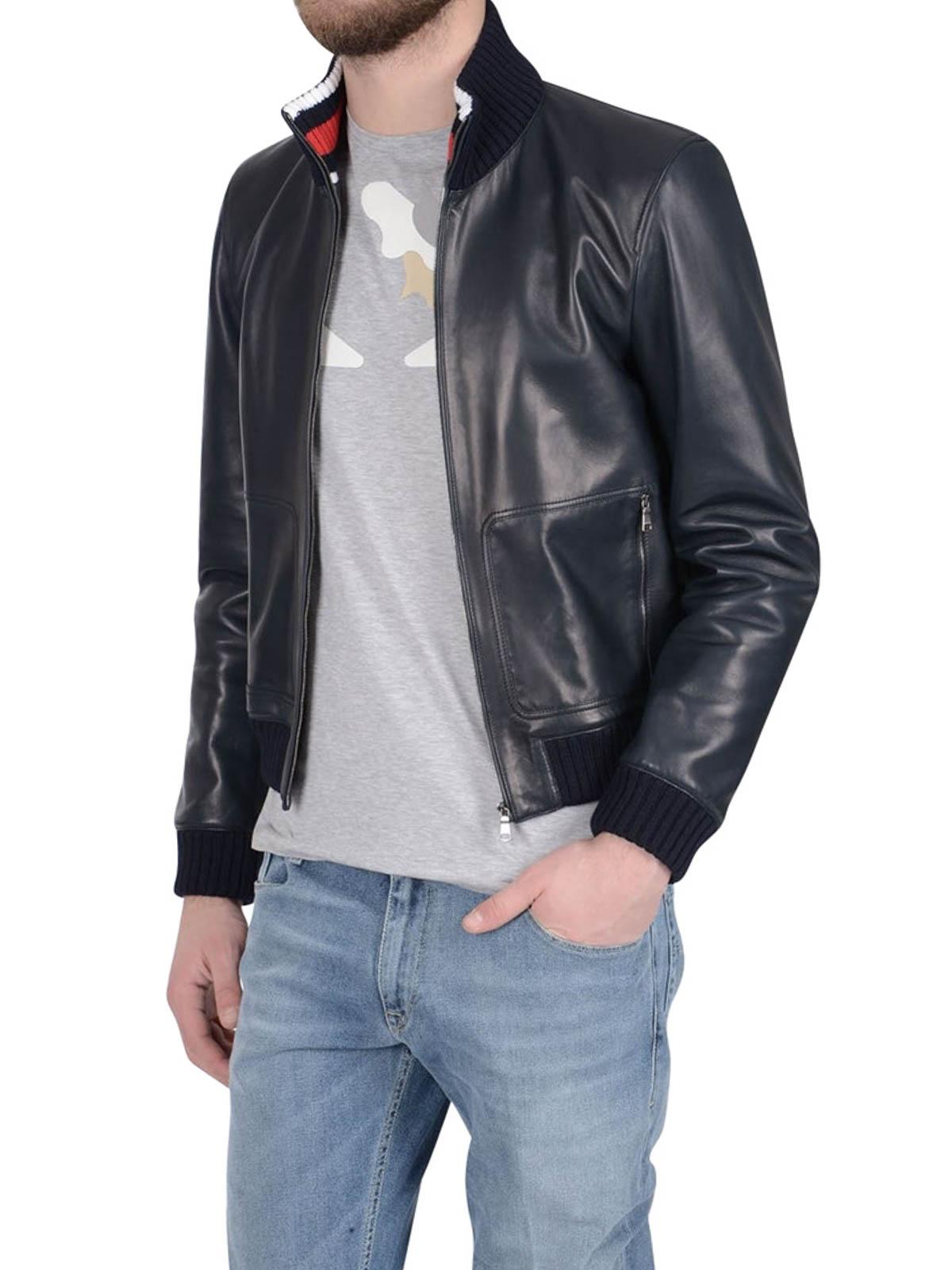 Soft leather bomber jacket | iKRIX