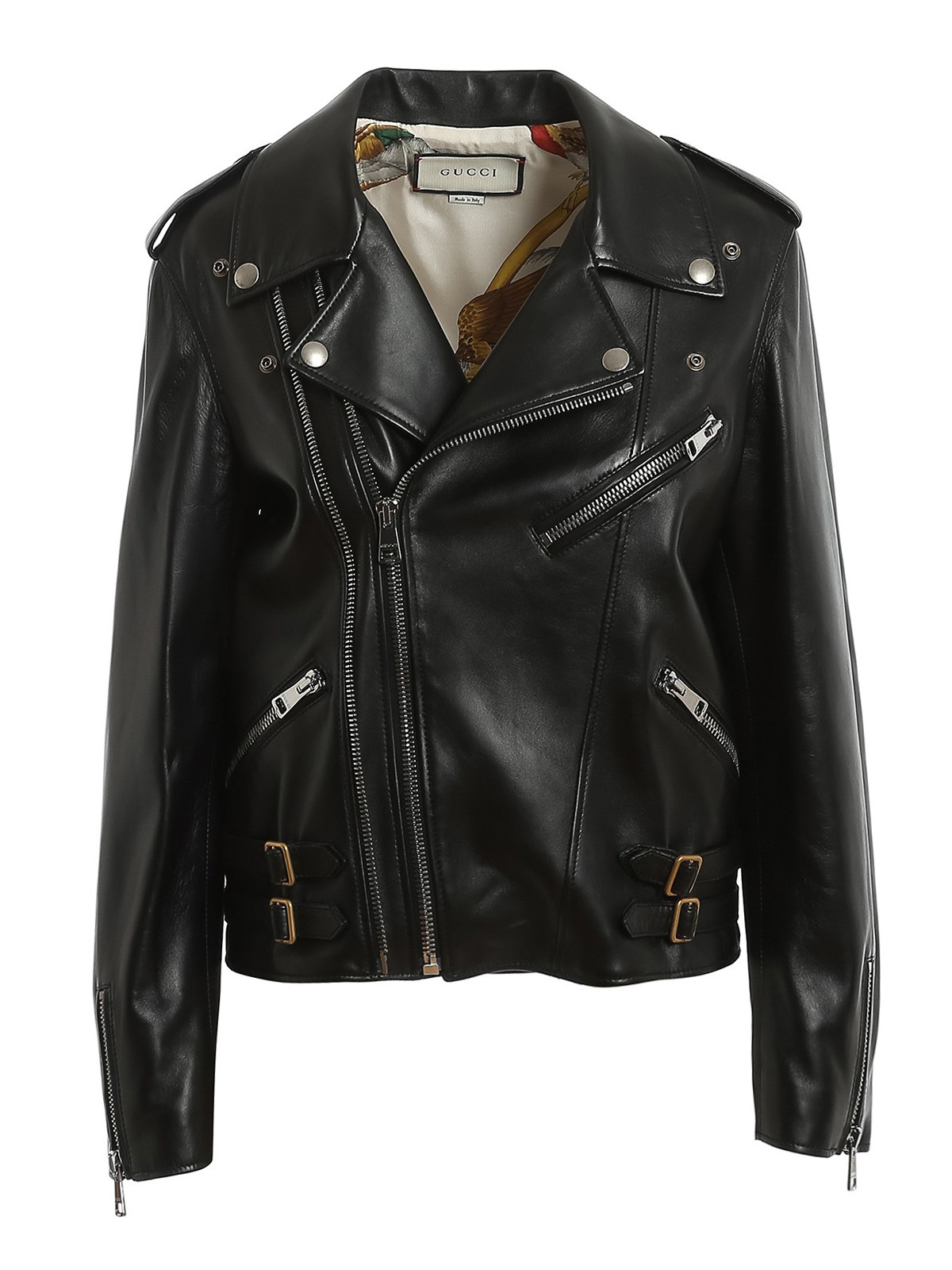 GUCCI PLONGE LEATHER BIKER JACKET