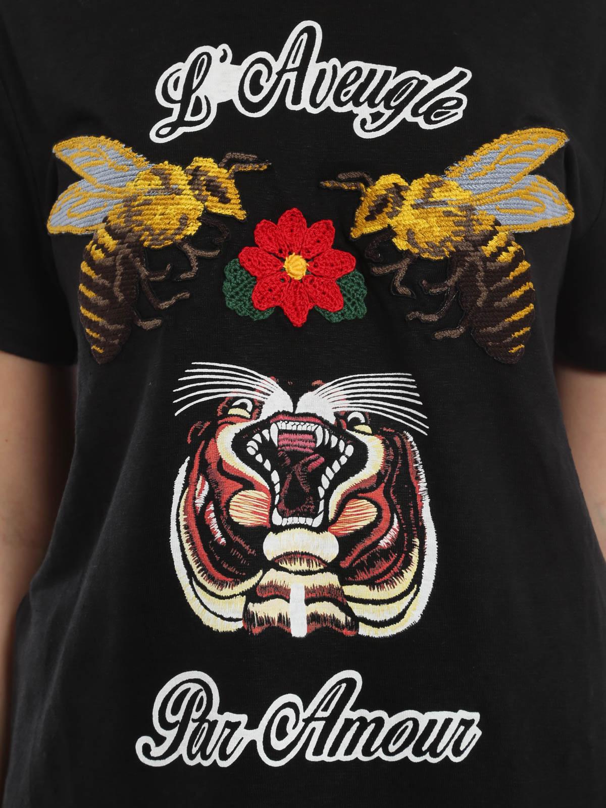 0ba2e572 Gucci - Linen embroidered T-shirt - t-shirts - 414959 X5907 1034