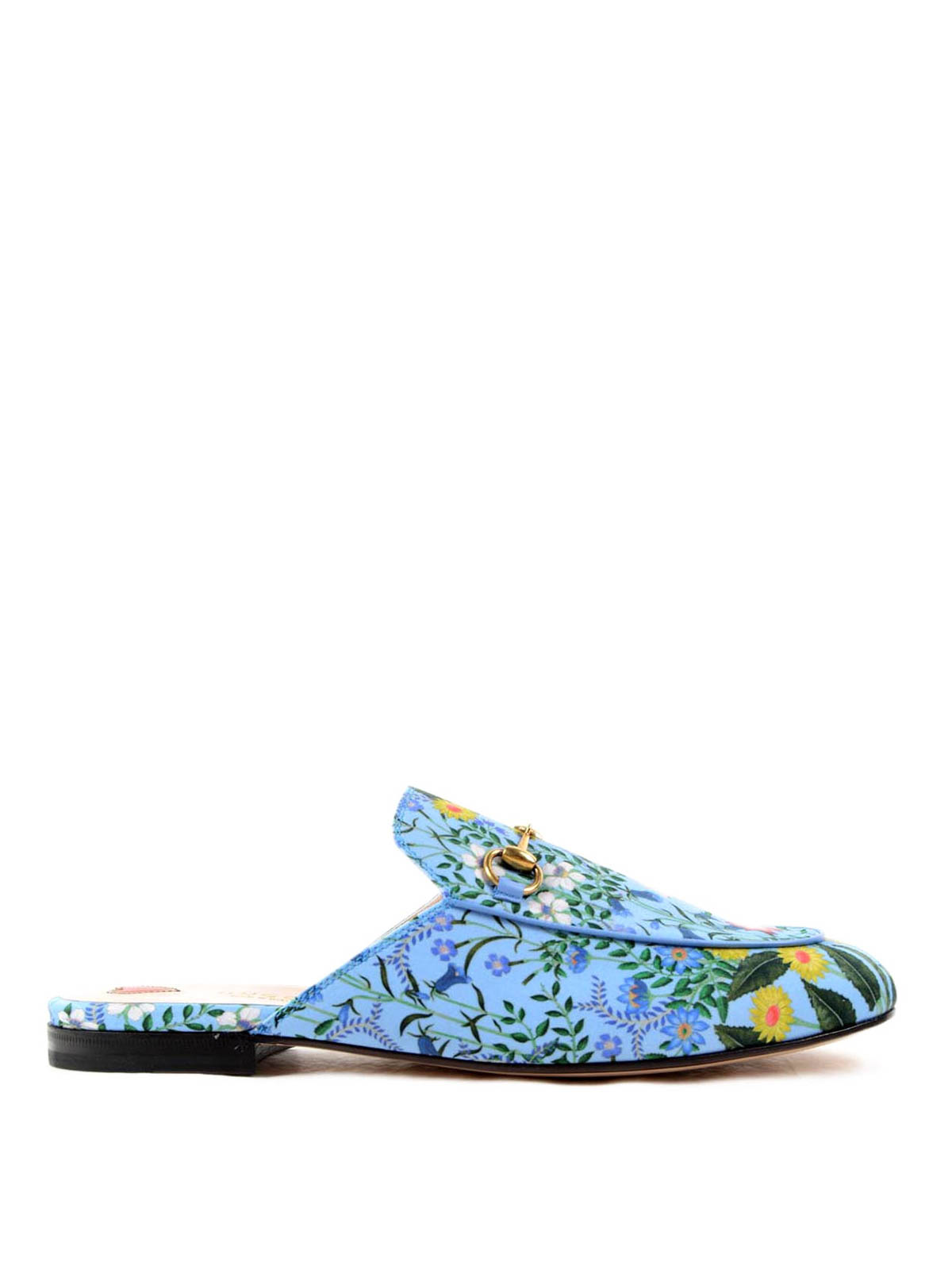 4a9f38b9258 Gucci - Leather New Flora slippers - Loafers   Slippers ...