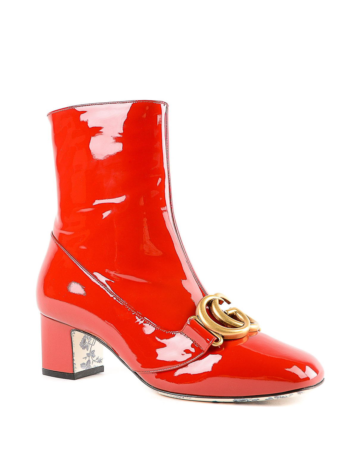 8d59a4234 GUCCI: ankle boots online - Double G red patent leather ankle boots
