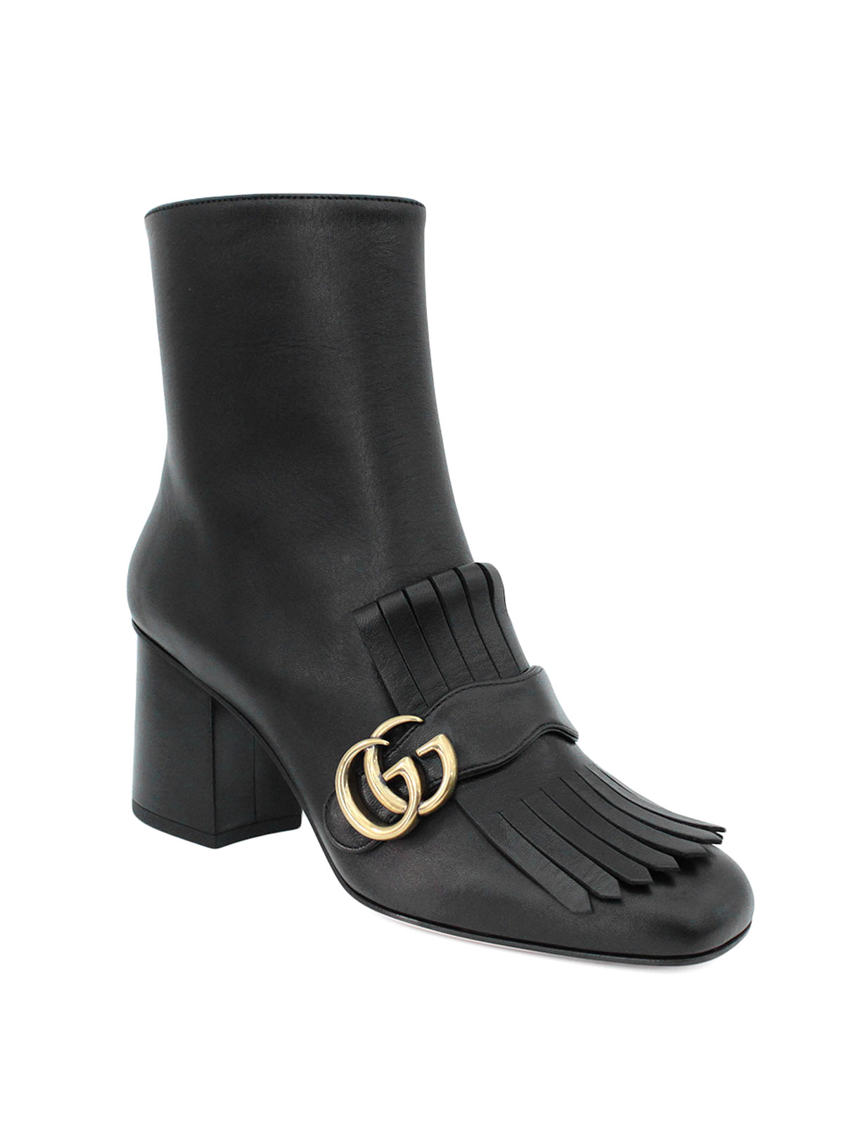 6464bc35f5e Gucci - GG detailed fringed ankle boots - ankle boots - 408210 C9D00 ...