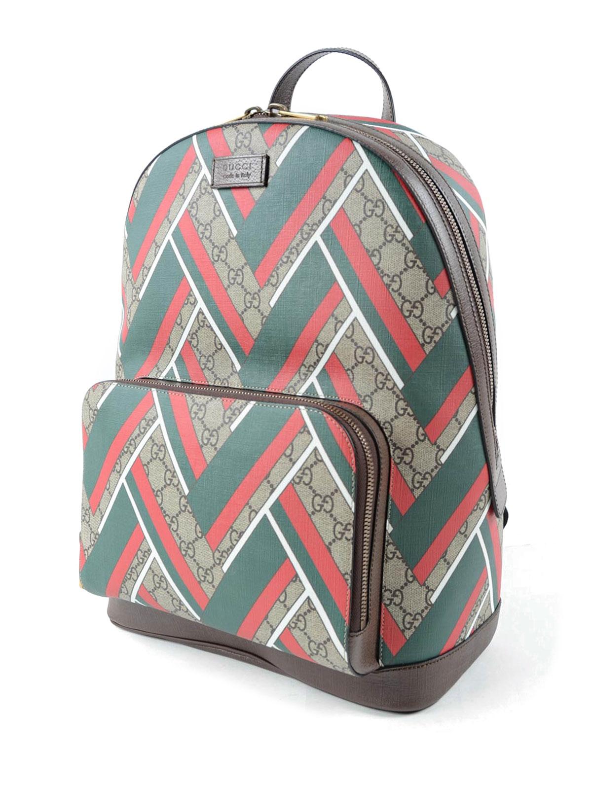 92f4246fa618 Gucci - GG Supreme and Chevron backpack - backpacks - 406370/K1MIT 8559